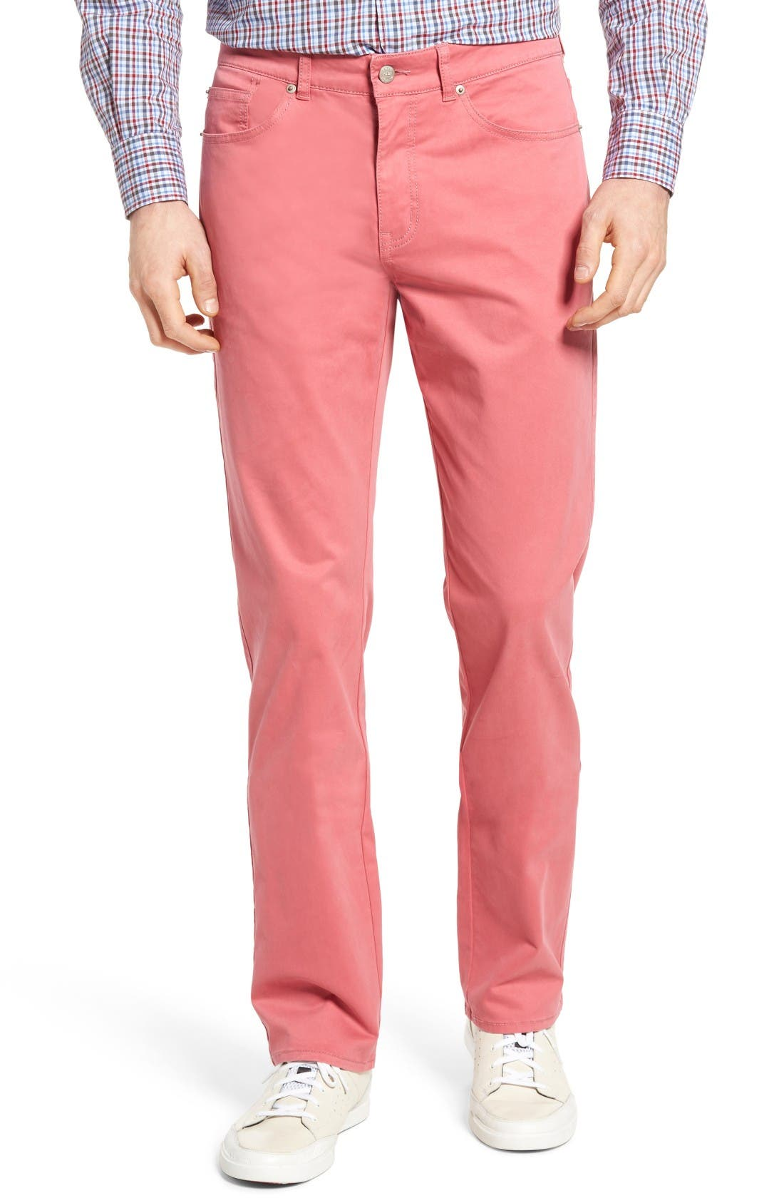 PETER MILLAR Stretch Sateen Five Pocket Pants