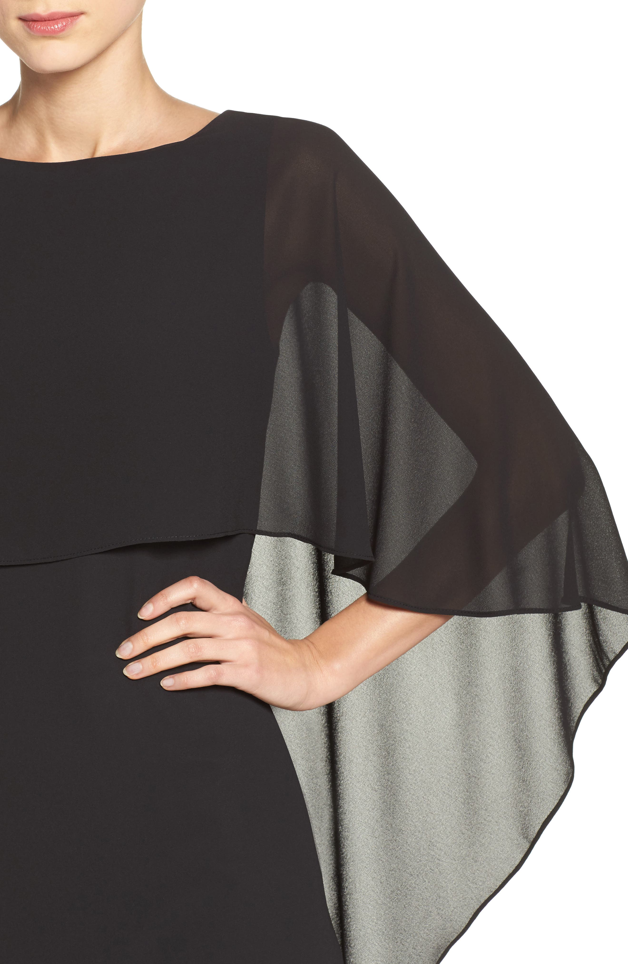 Alternate Image 4  - Vince Camuto Cape Overlay Gown