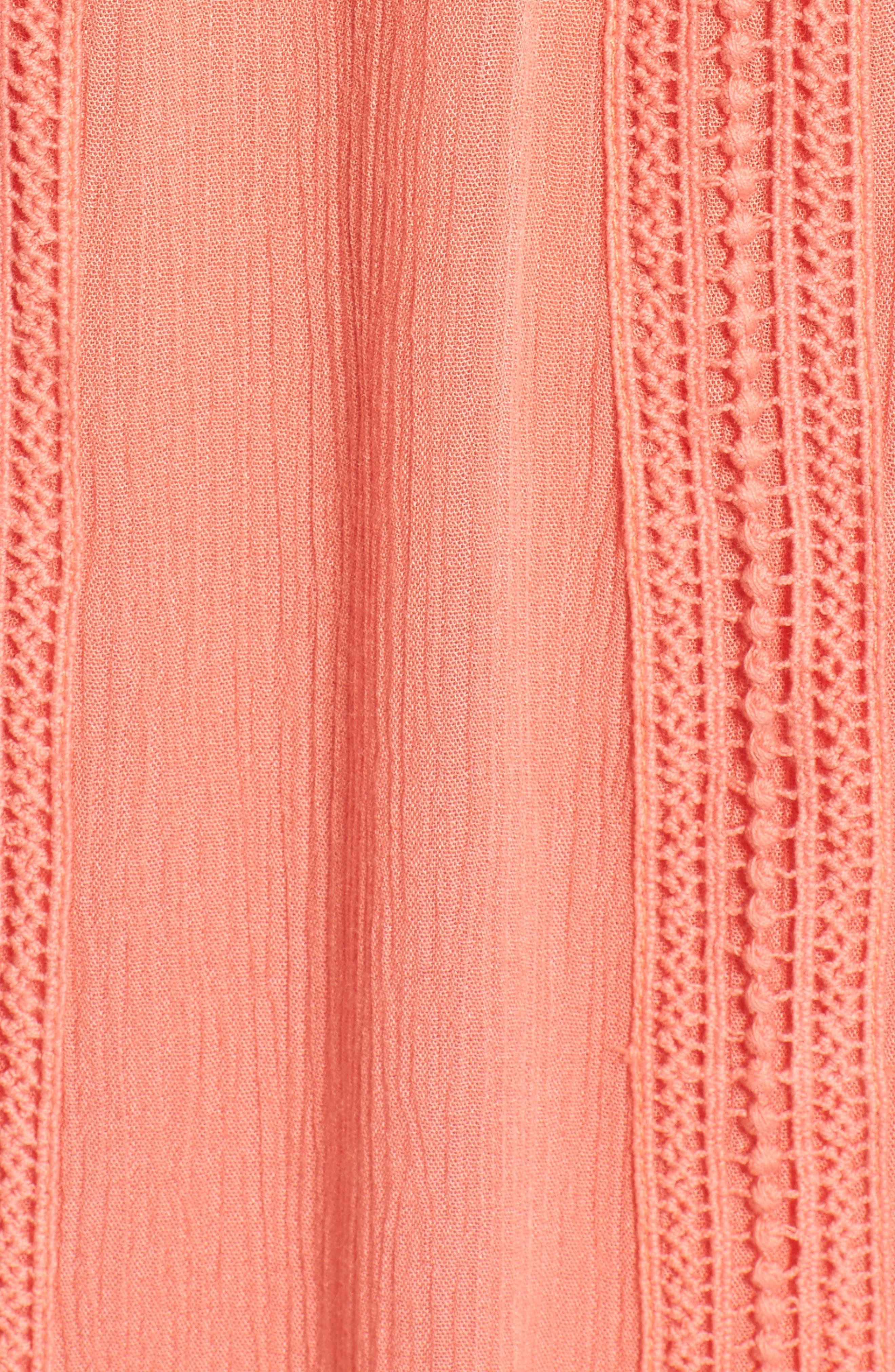 Alternate Image 5  - Dee Elly Tassel Trim Off the Shoulder Dress