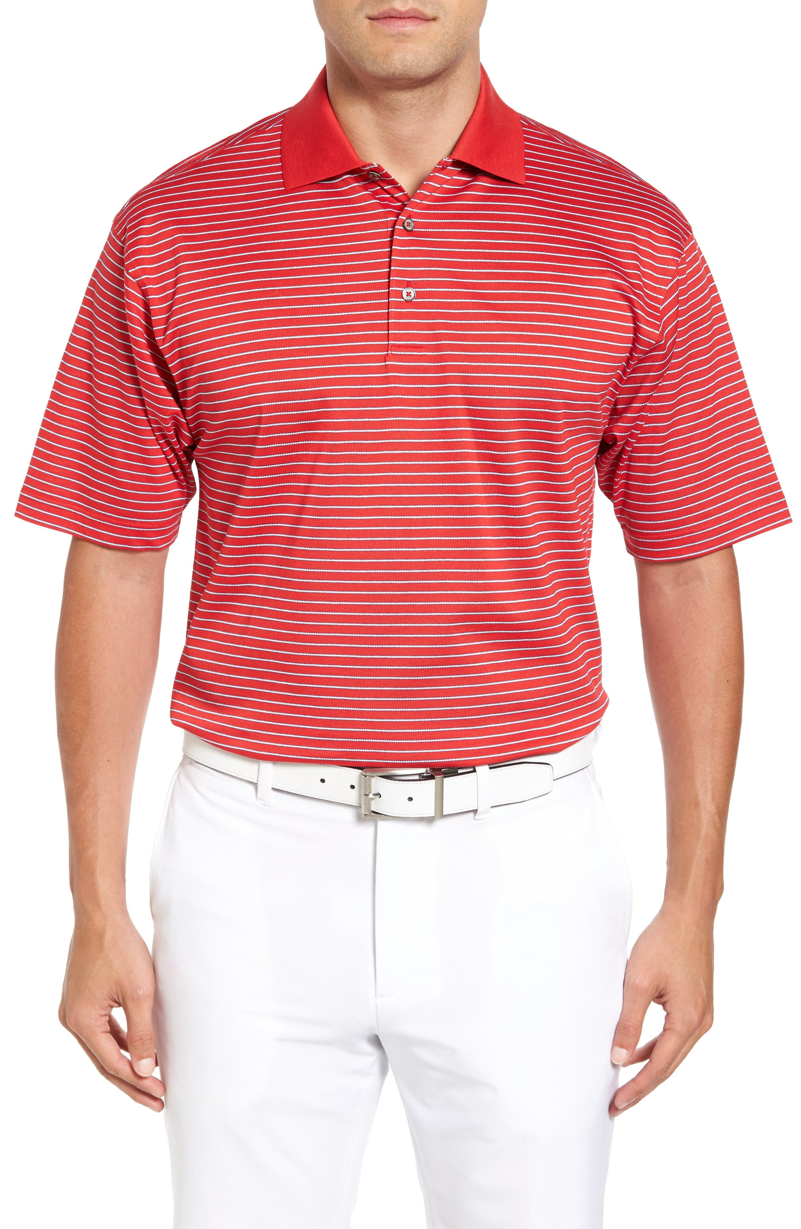 Bobby Jones Dot Stripe Golf Polo