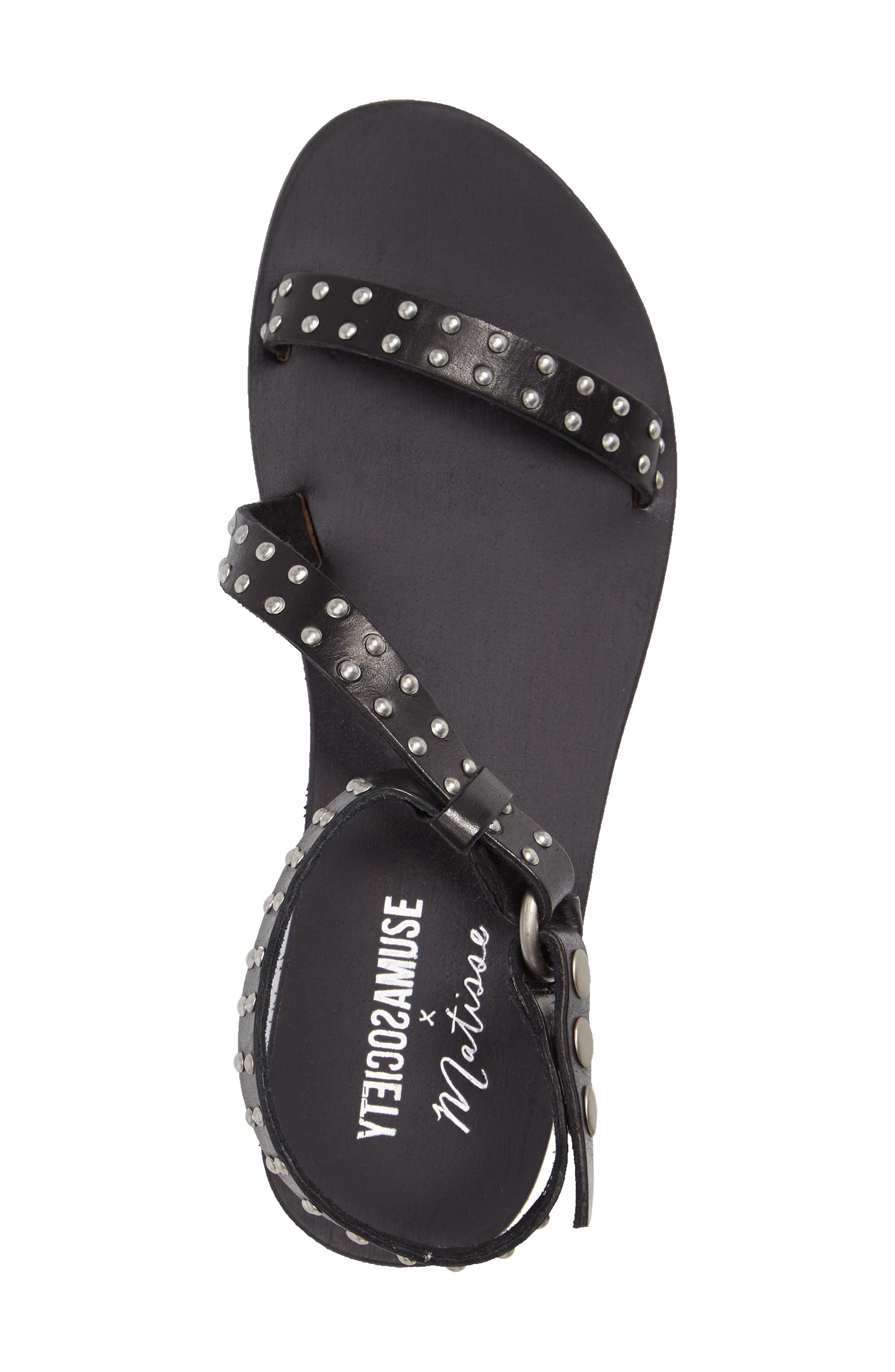 Alternate Image 3  - Amuse Society x Matisse Rock Muse Studded Sandal (Women)