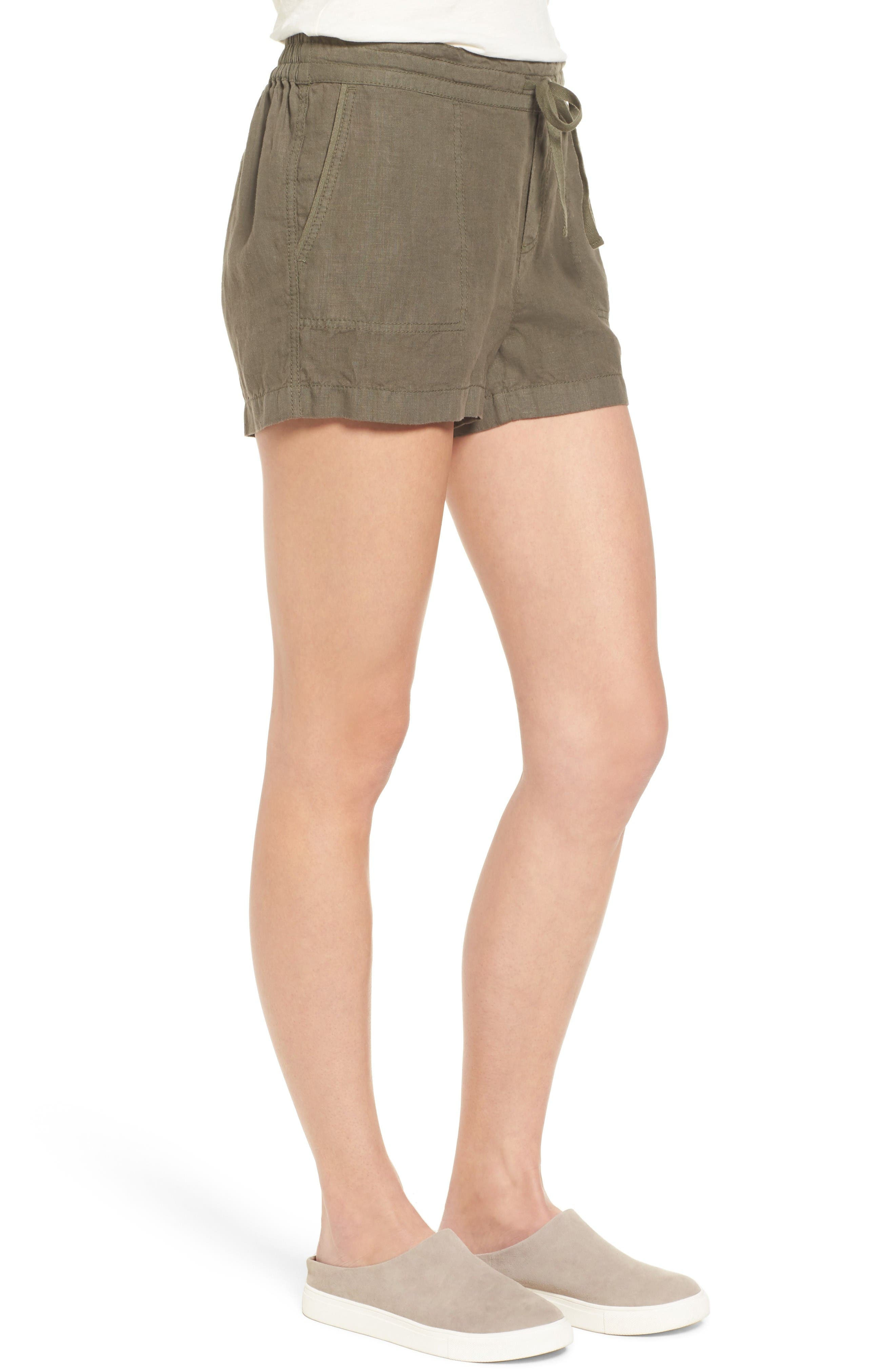 Alternate Image 3  - Caslon® Drawstring Linen Shorts (Regular & Petite)