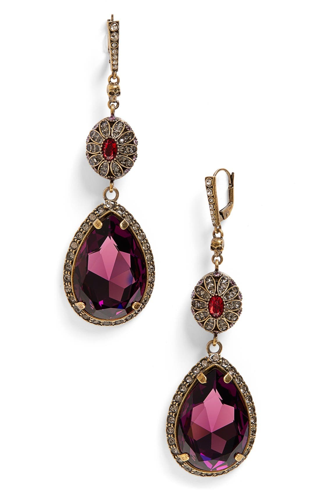 Alternate Image 1 Selected - Alexander McQueen Double Drop Earrings