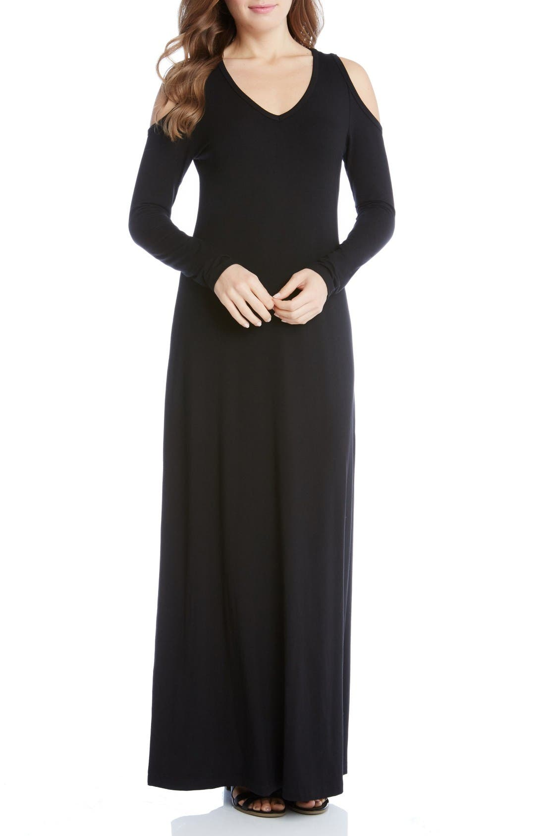 Main Image - Karen Kane Cold Shoulder Maxi Dress