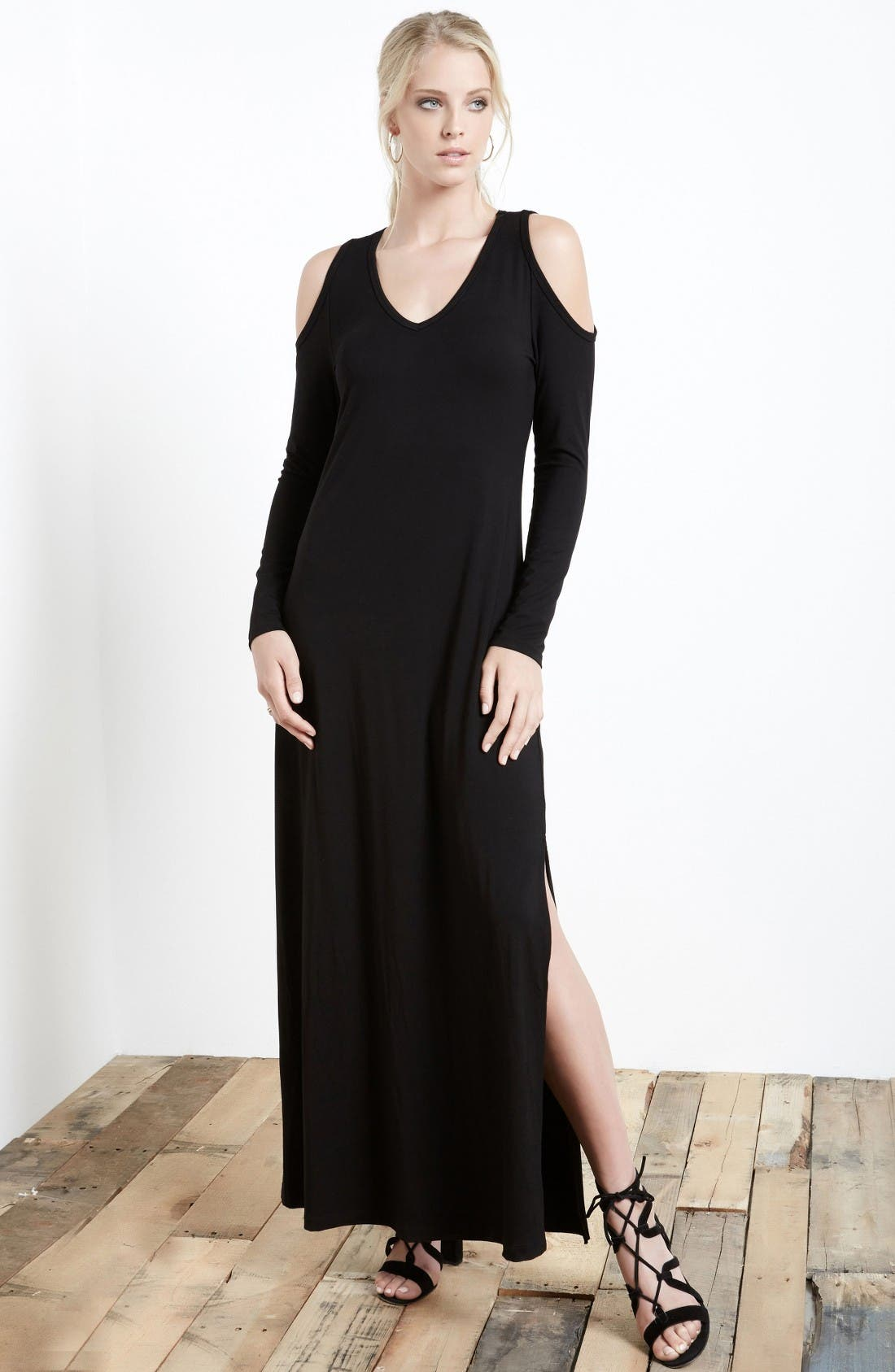 Alternate Image 2  - Karen Kane Cold Shoulder Maxi Dress