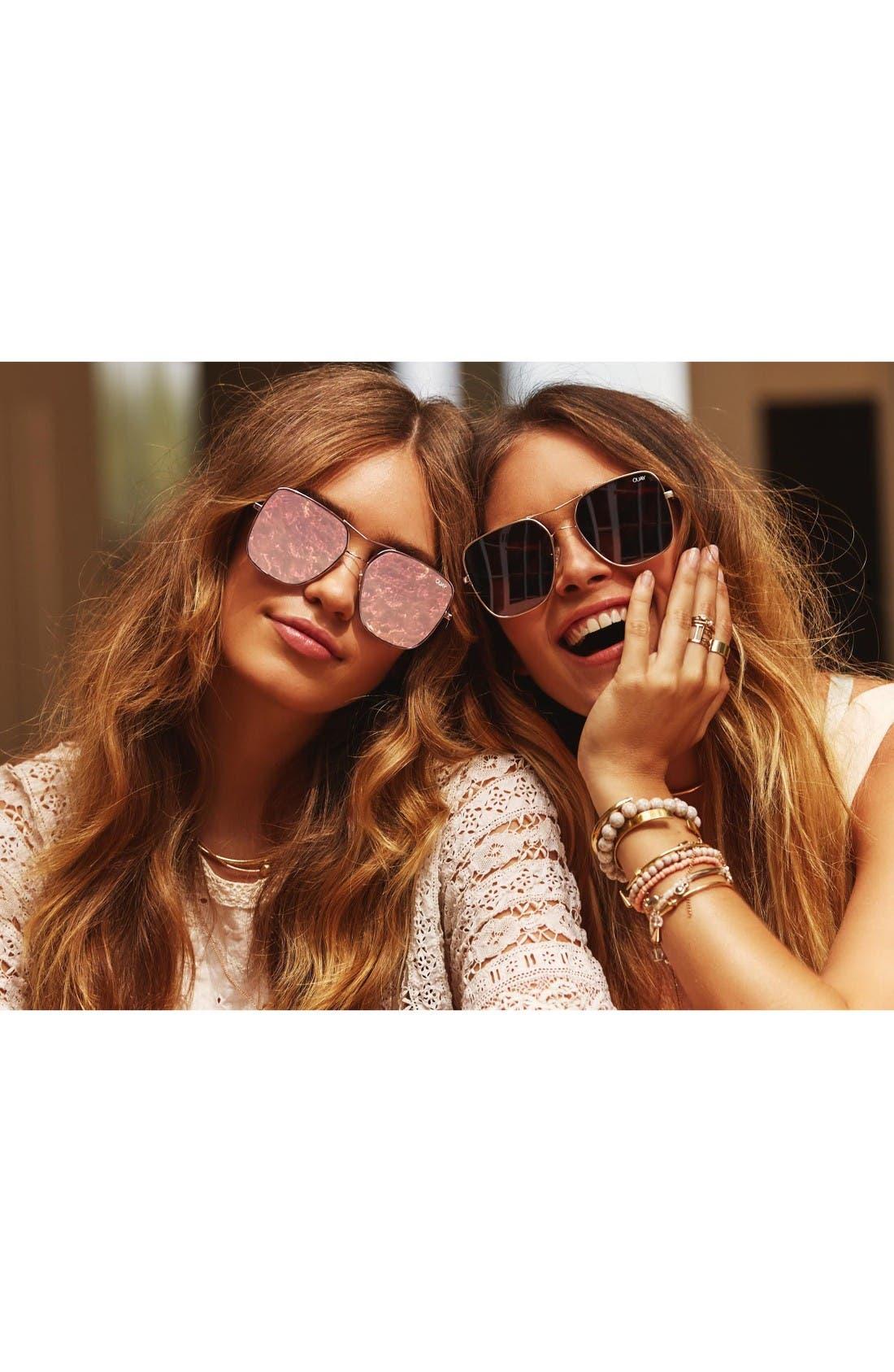 Alternate Image 4  - Quay Australia Stop & Stare 58mm Square Sunglasses