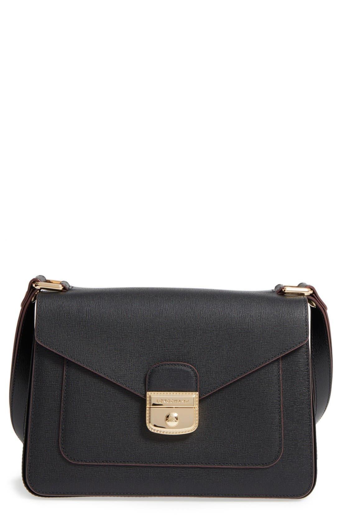Longchamp Pliage Heritage Leather Shoulder Bag