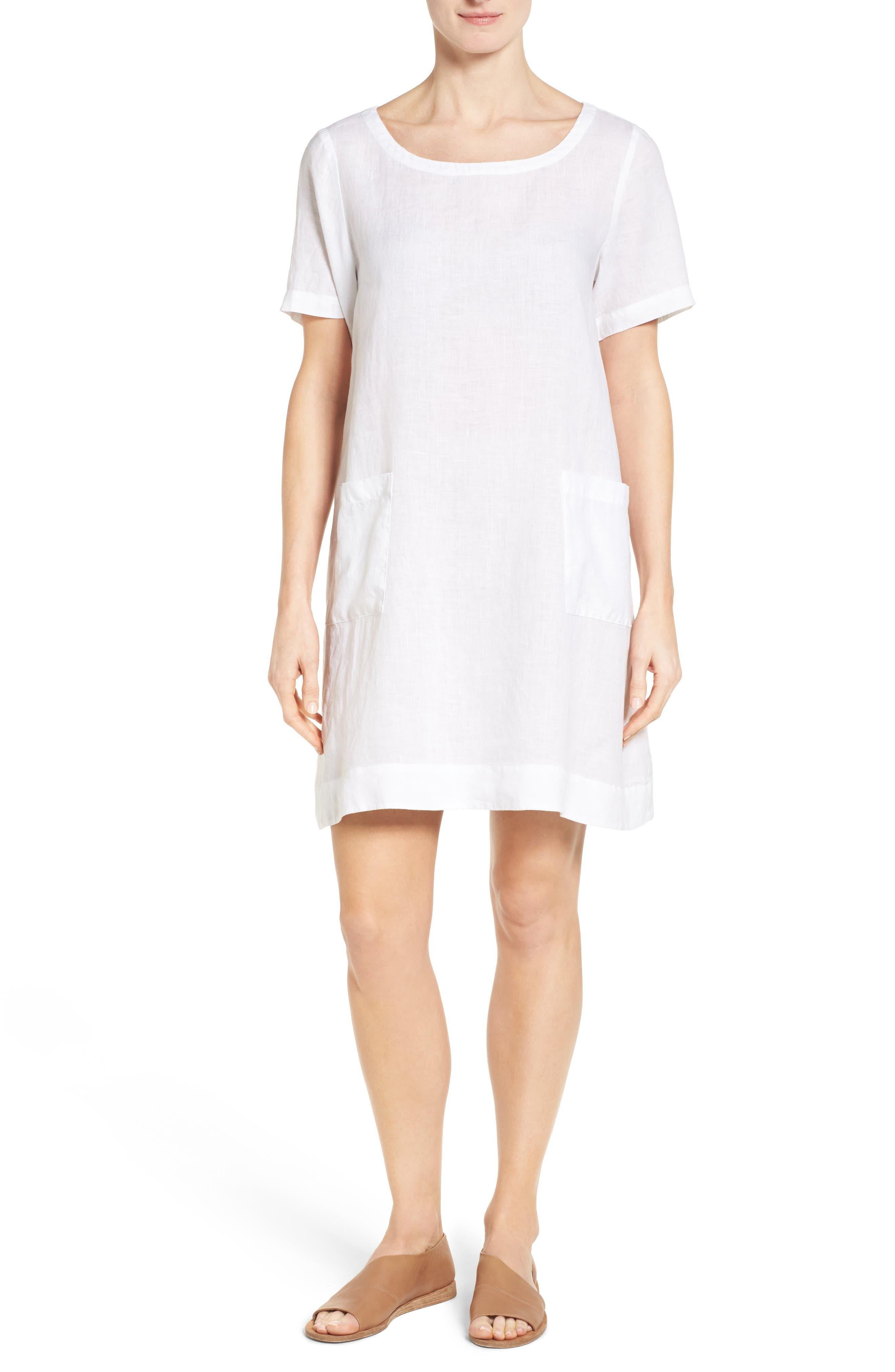 Eileen Fisher Organic Linen A-Line Dress