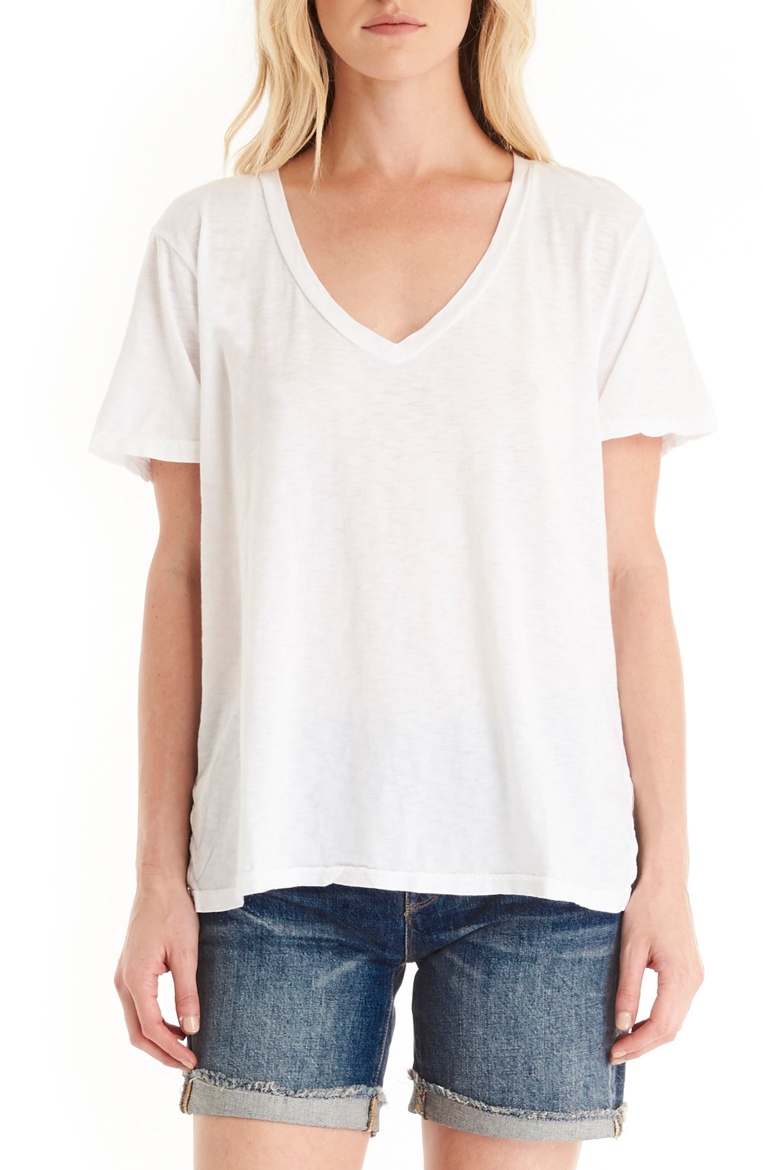 Alternate Image 1 Selected - Michael Stars V-Neck Supima® Cotton Tee
