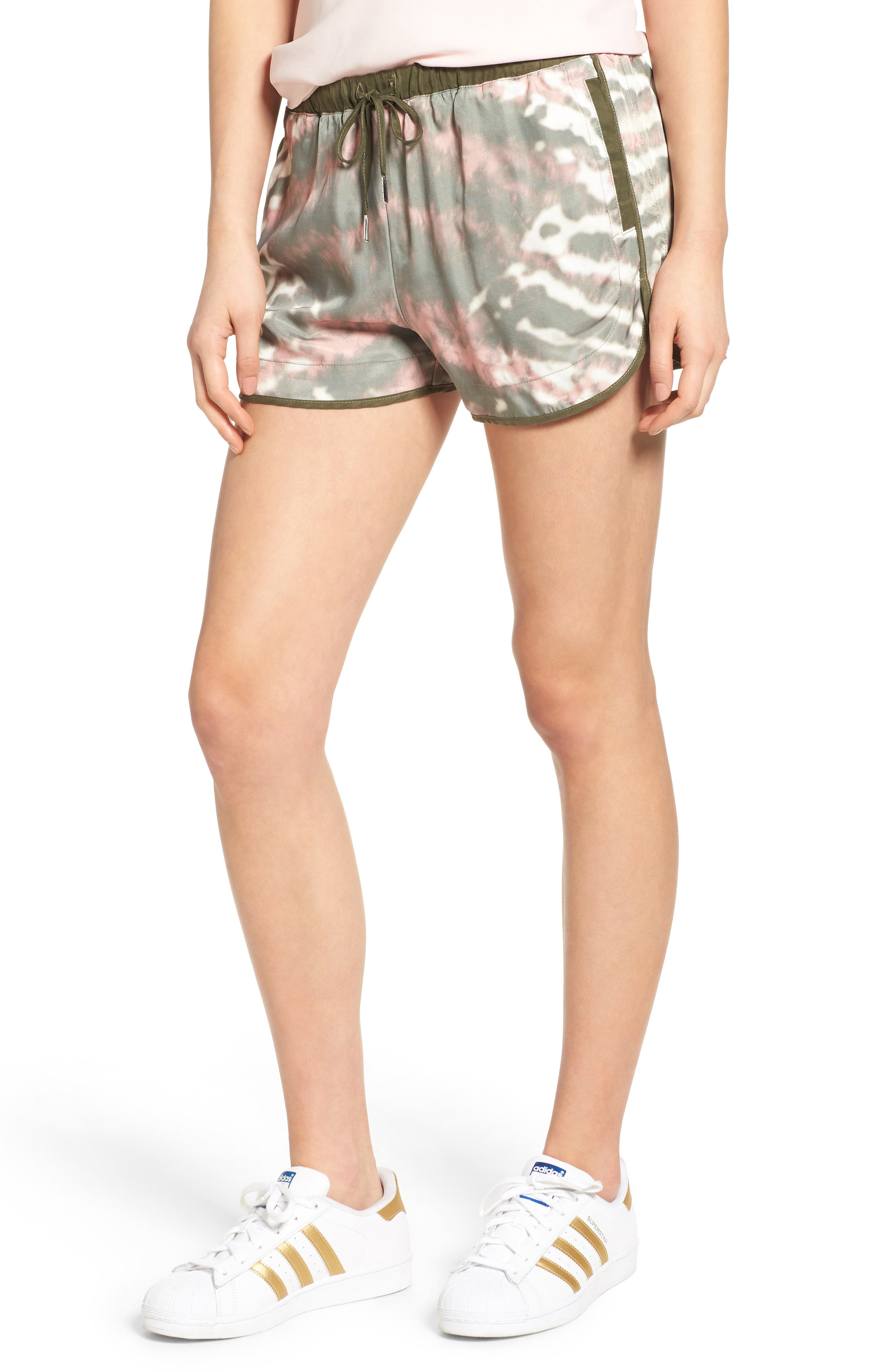 Main Image - BLANKNYC Tie Dye Drawstring Shorts