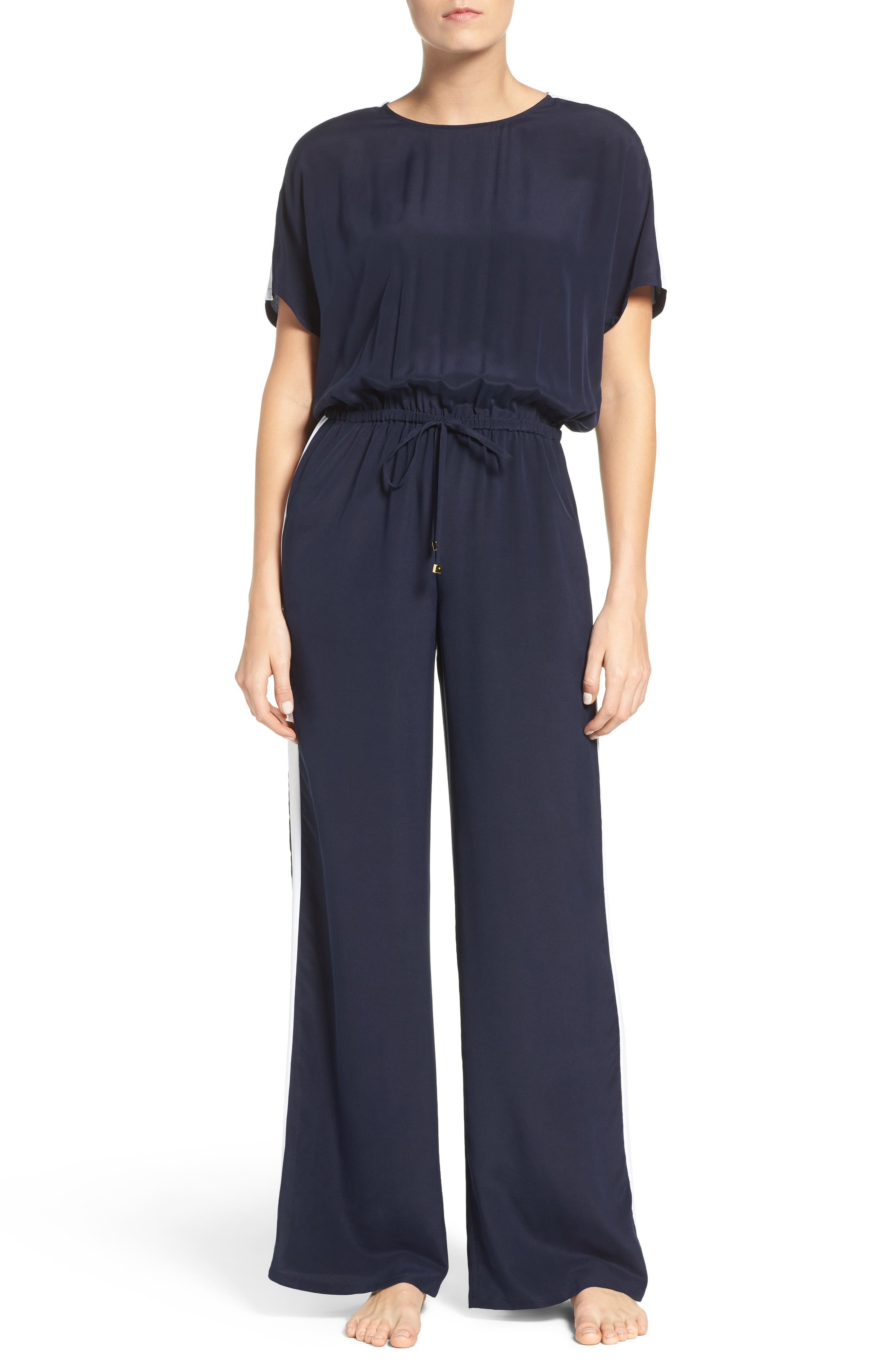 Main Image - Tory Burch Silk Cover-Up Jumpsuit