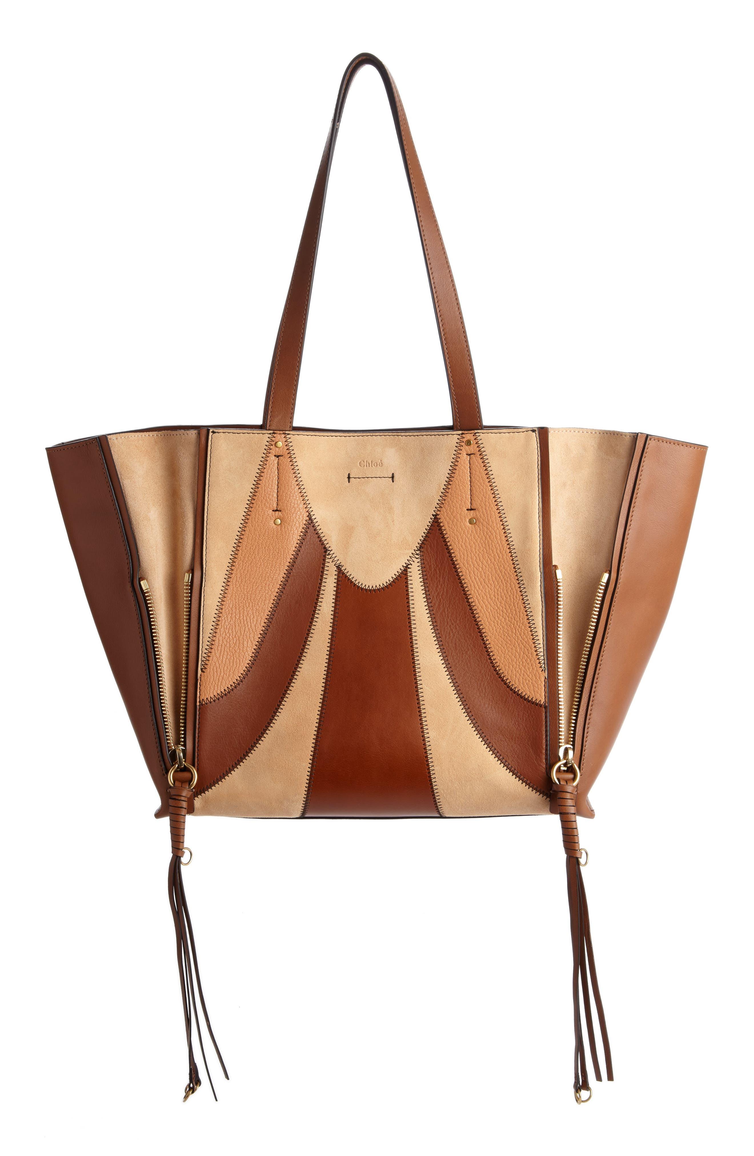 Chloé Medium Milo Calfskin Leather & Suede Tote
