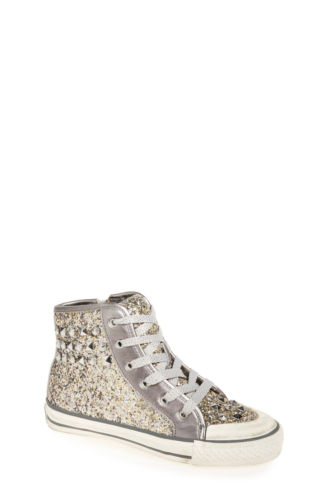 Ash 'Lita Monroe' Studded Glitter High Top Sneaker (Walker, Toddler, Little Kid & Big Kid)
