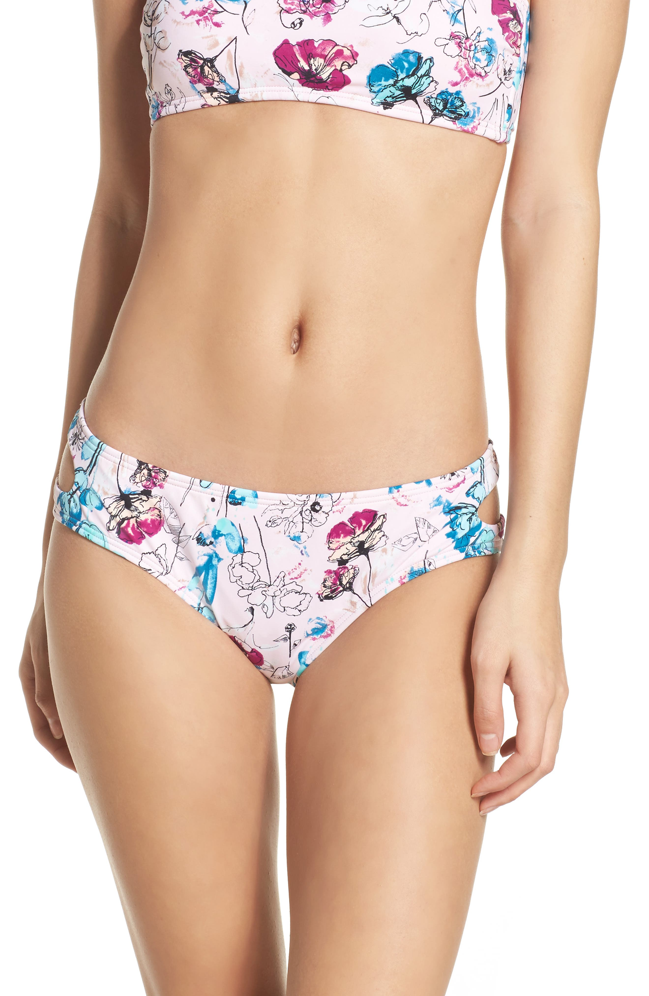 Alternate Image 1 Selected - The Bikini Lab Bouquet Cutout Bikini Bottoms