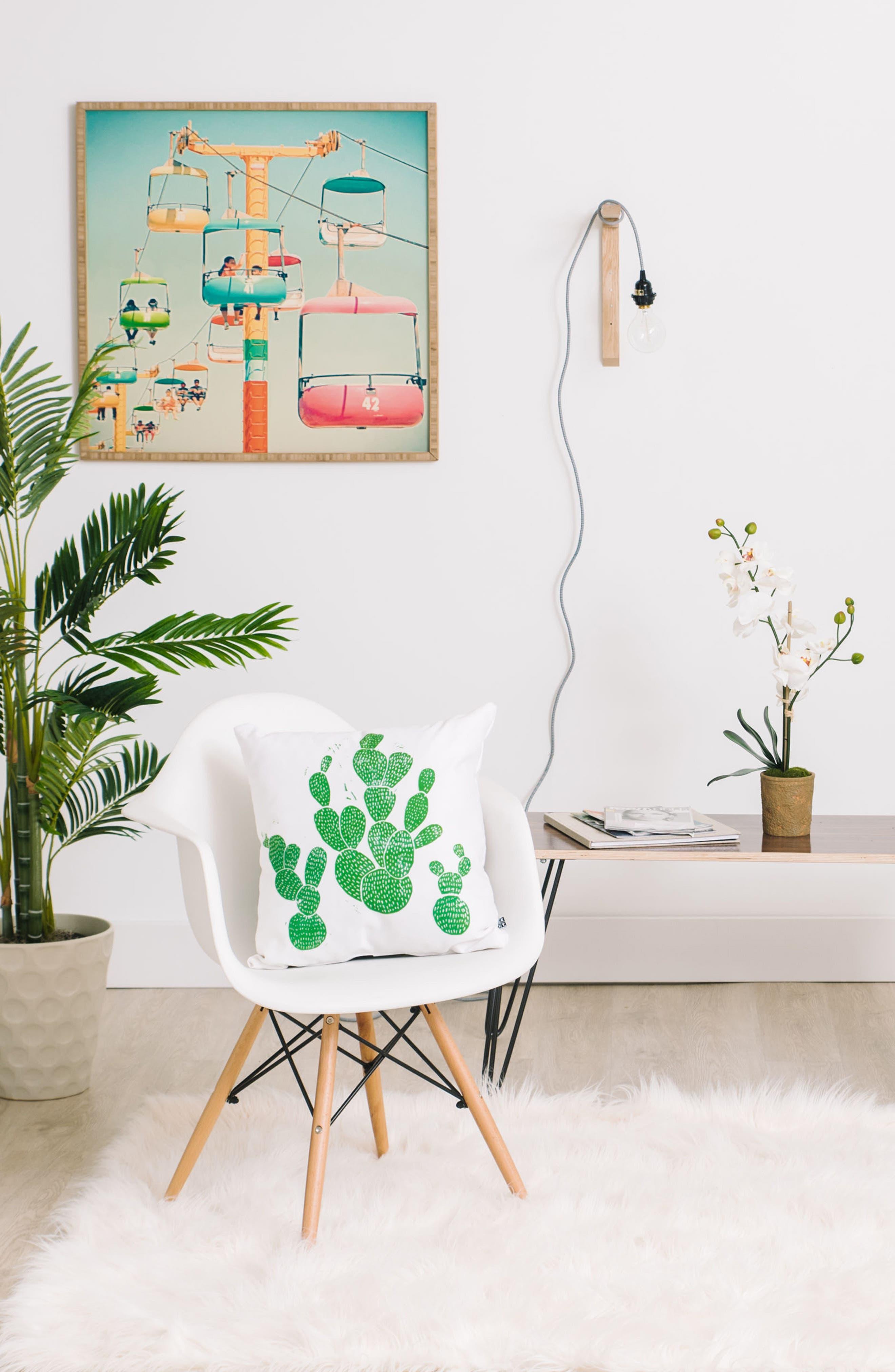 Alternate Image 2  - DENY Designs Green Cacti Pillow