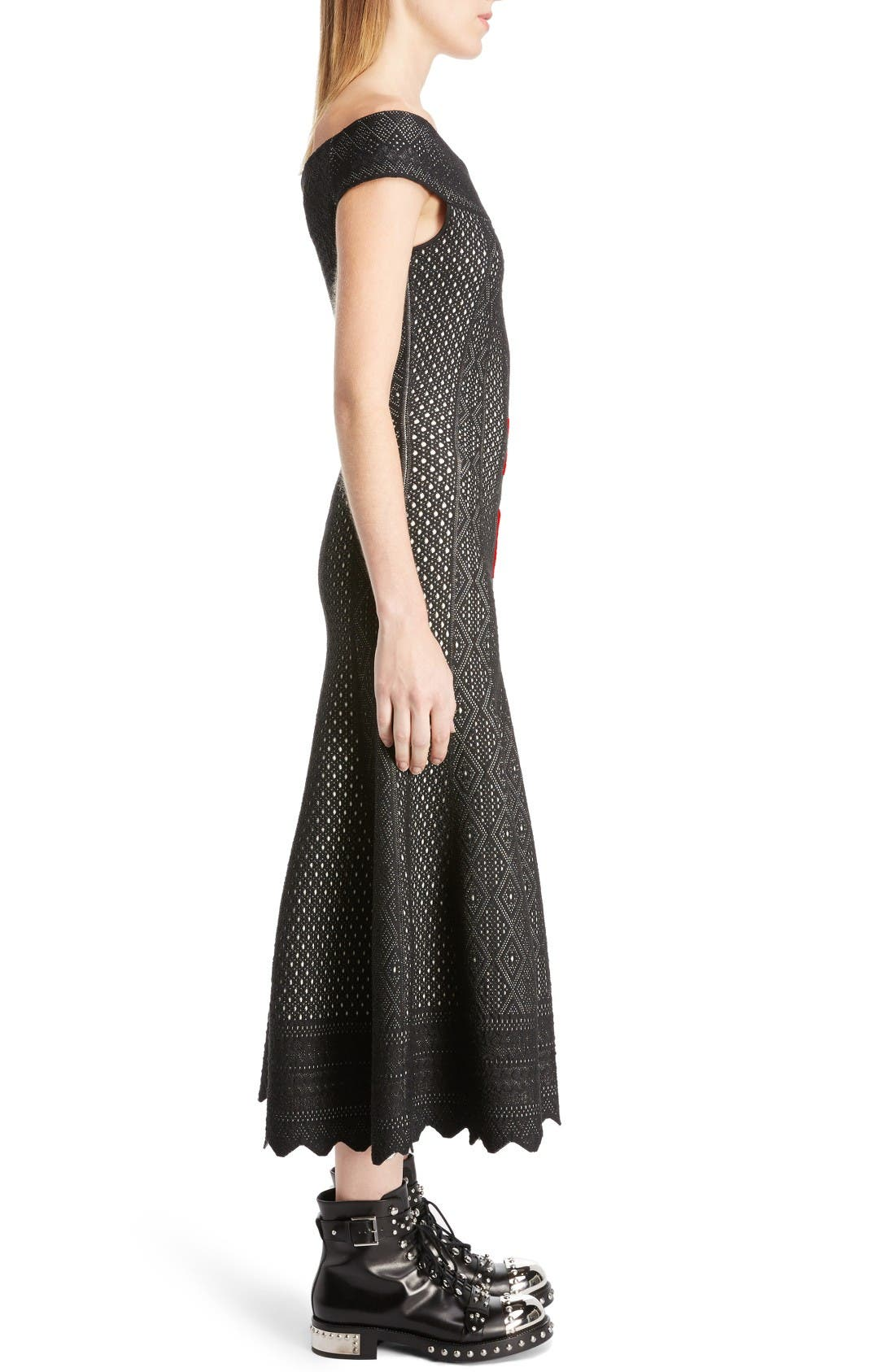 Alternate Image 4  - Alexander McQueen Off the Shoulder Bicolor Jacquard Dress