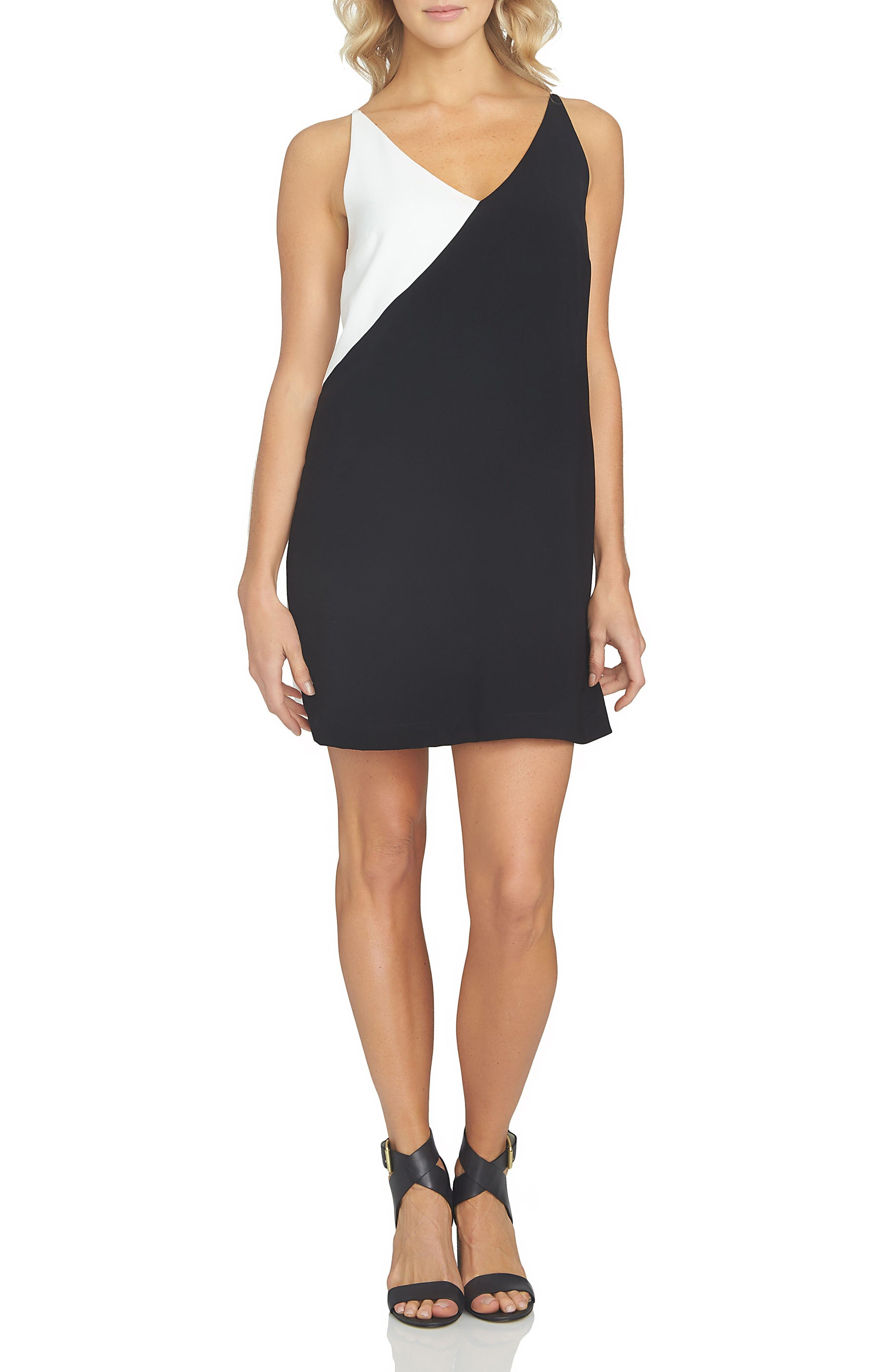 1.STATE Colorblock Shift Dress
