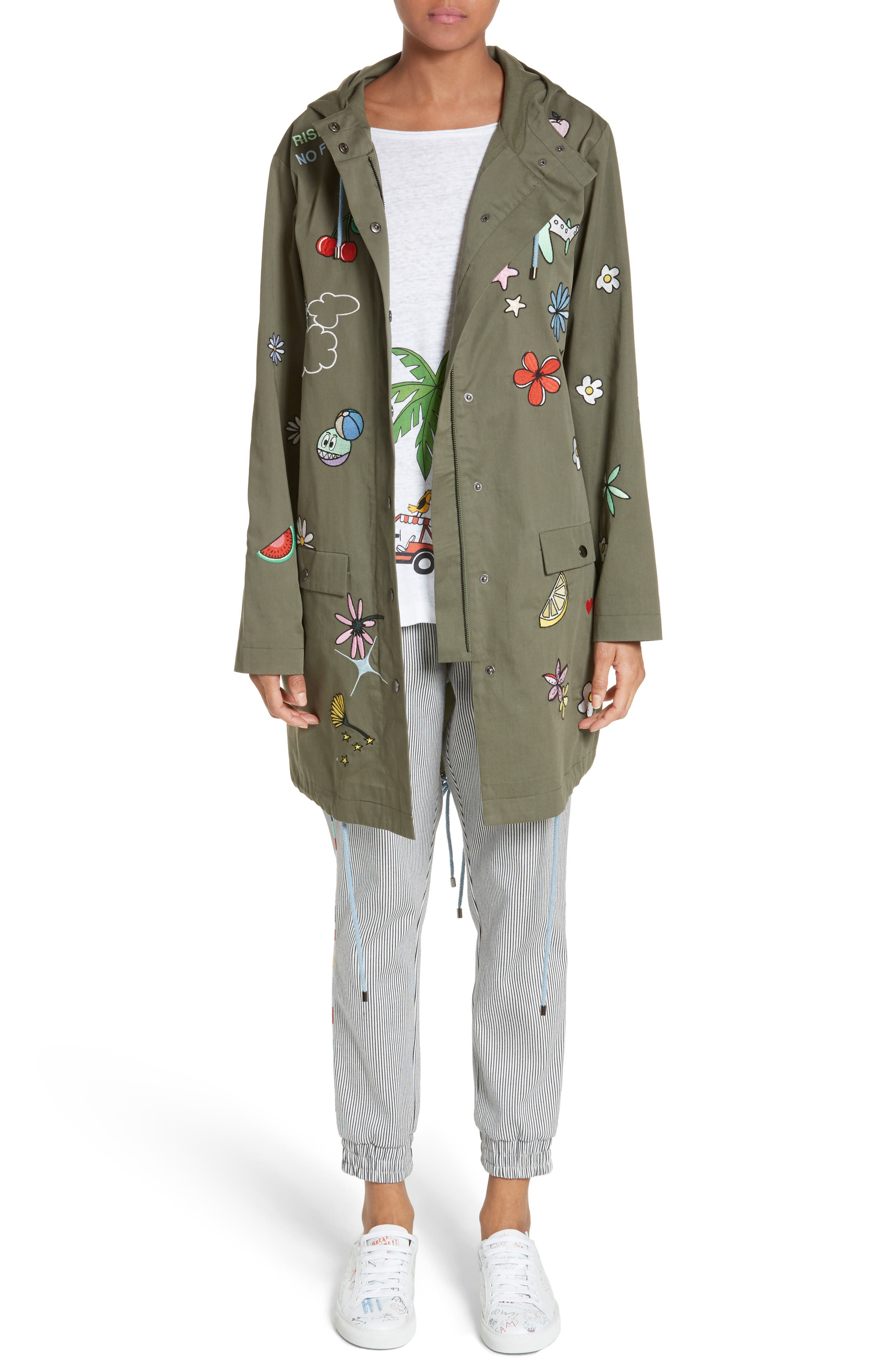 MIRA MIKATI Icon Embroidered Hooded Parka