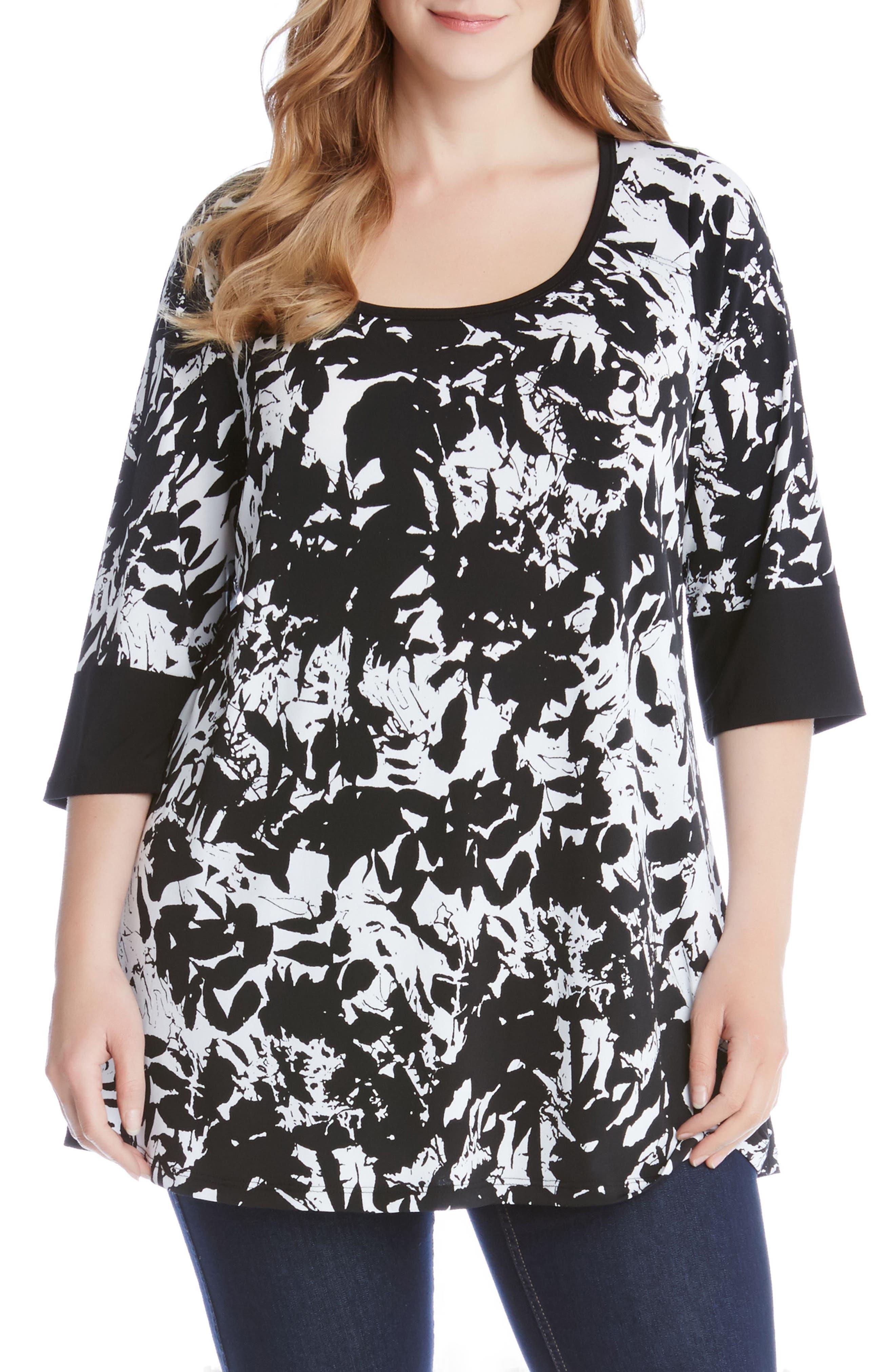 Karen Kane Print Tunic (Plus Size)