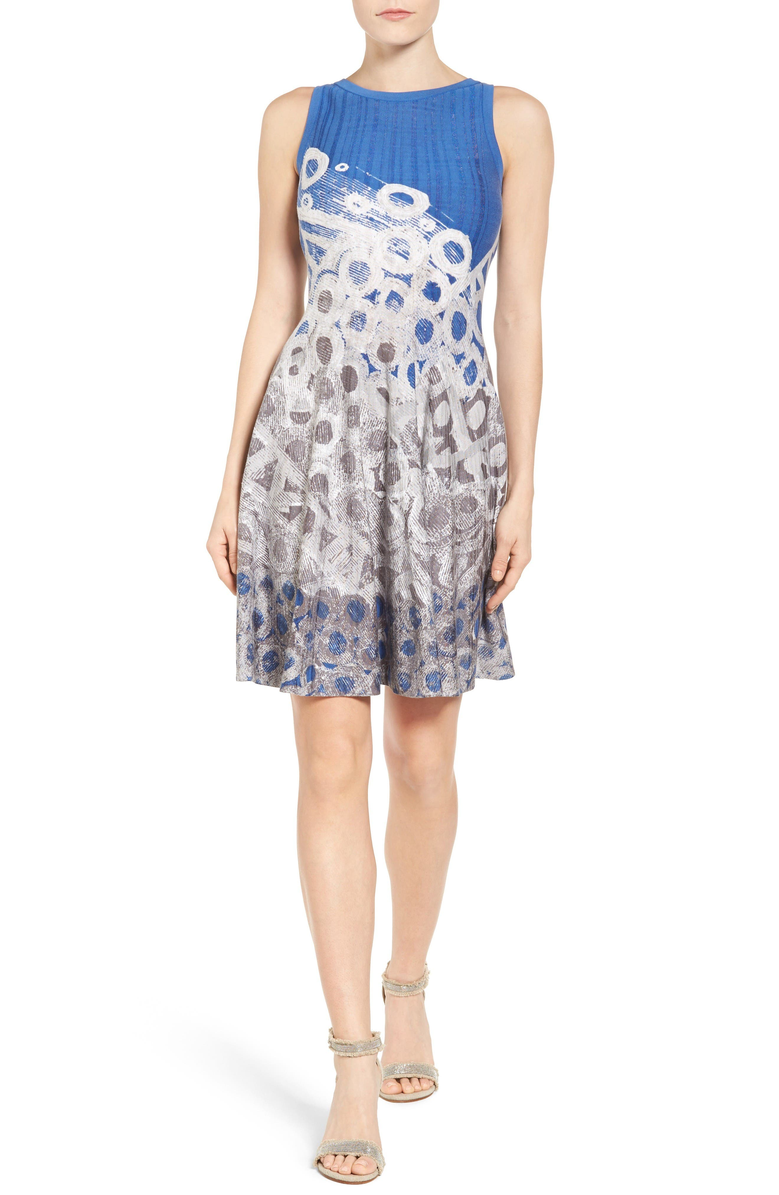 NIC+ZOE Rain Drops Twirl Dress (Regular & Petite)