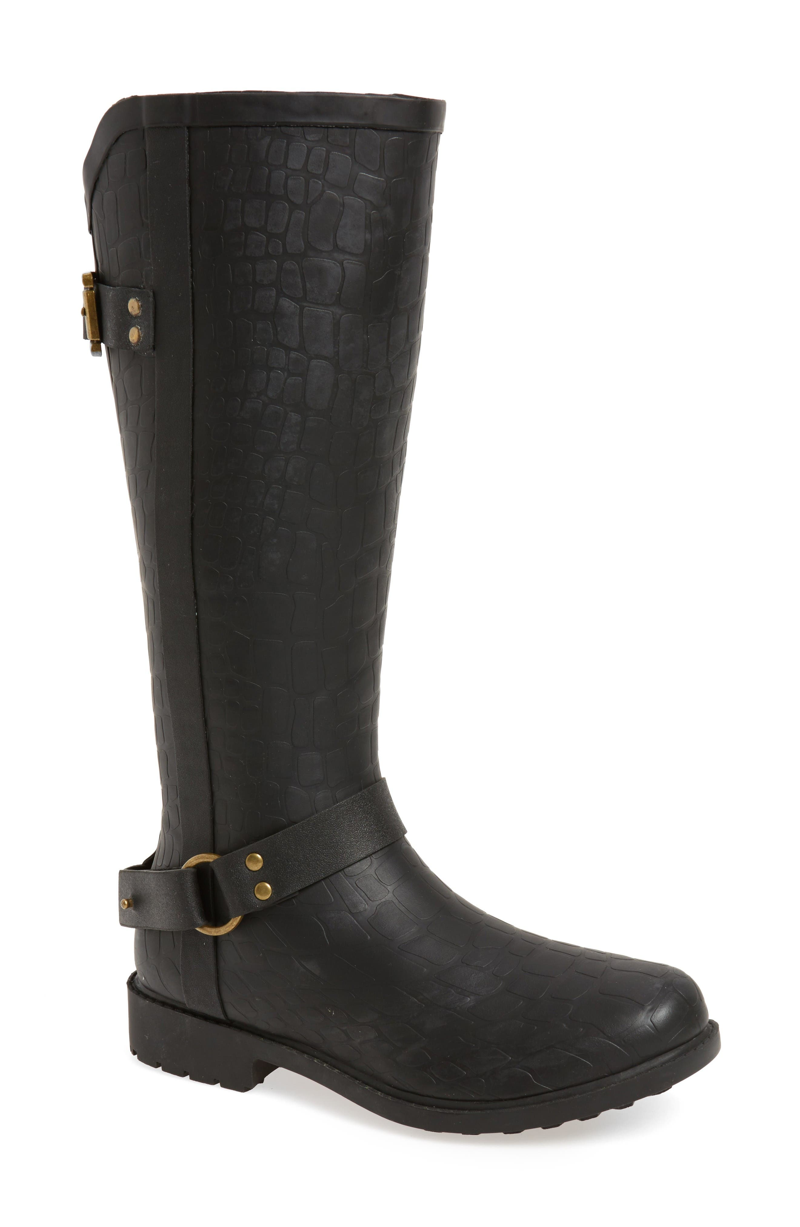 CHOOKA Brindle Textured Moto Rain Boot