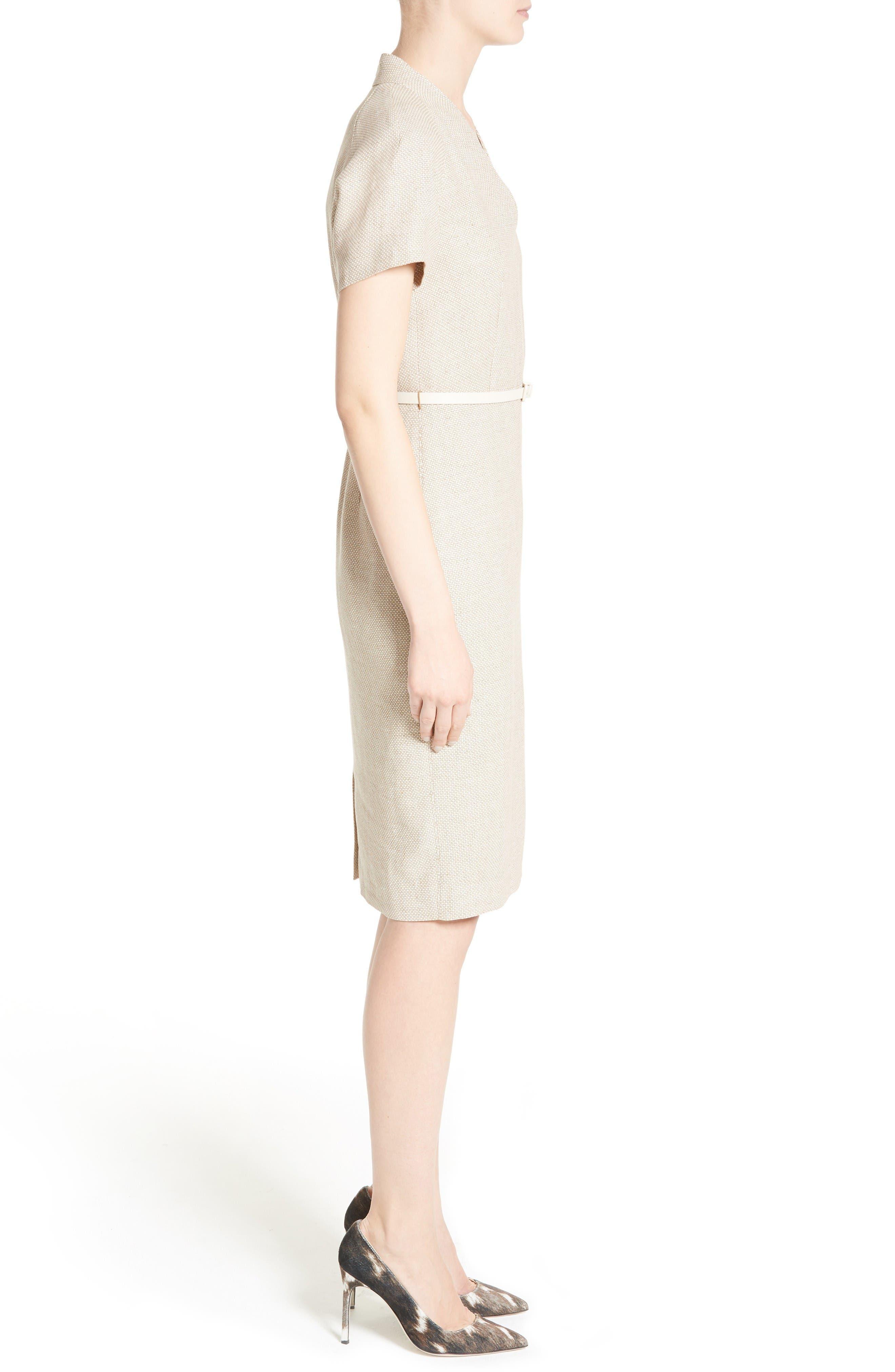 Alternate Image 5  - Max Mara Azeglio Belted Linen Sheath Dress