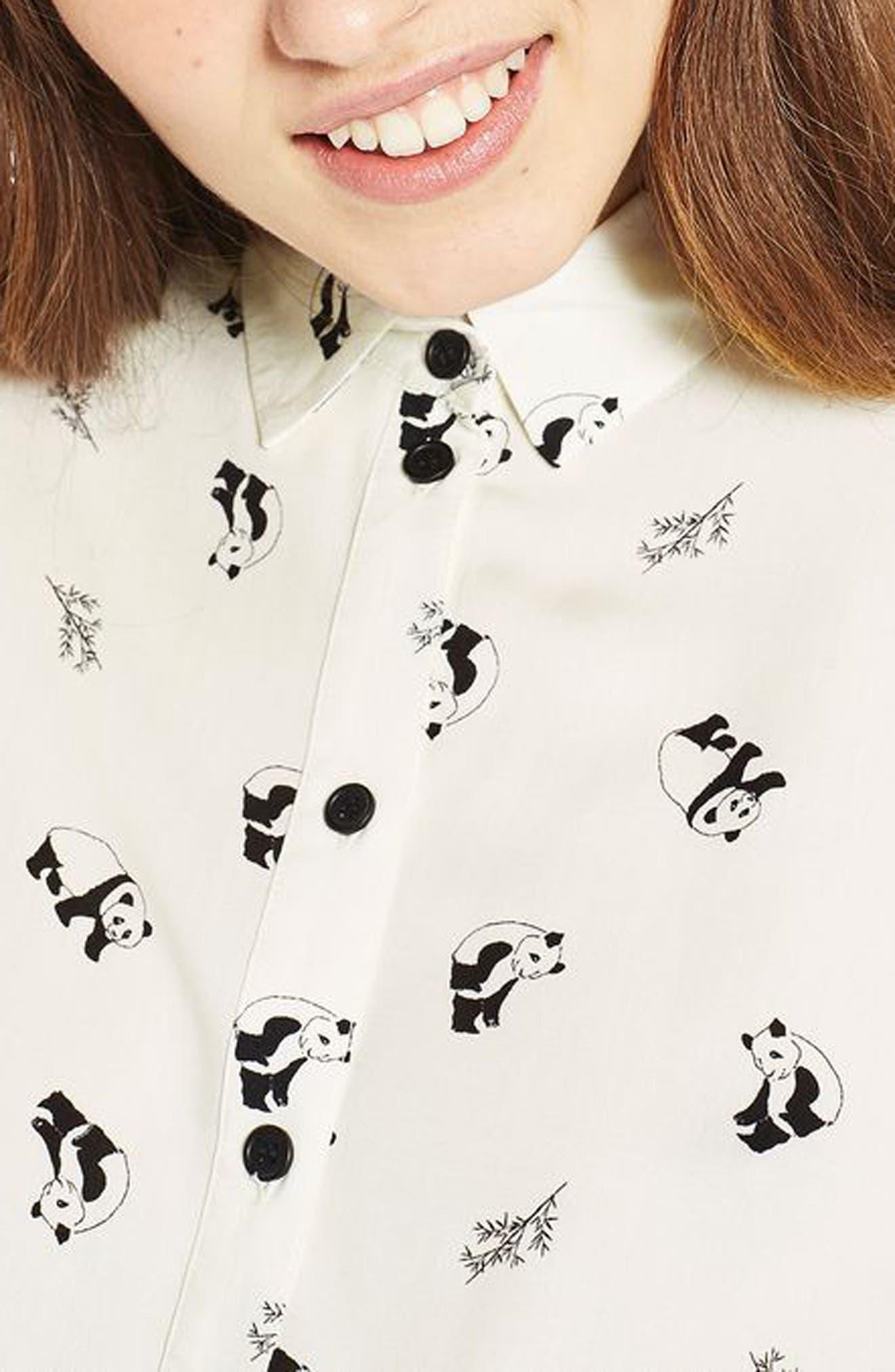 Alternate Image 4  - Topshop Panda Shirt (Regular & Petite)
