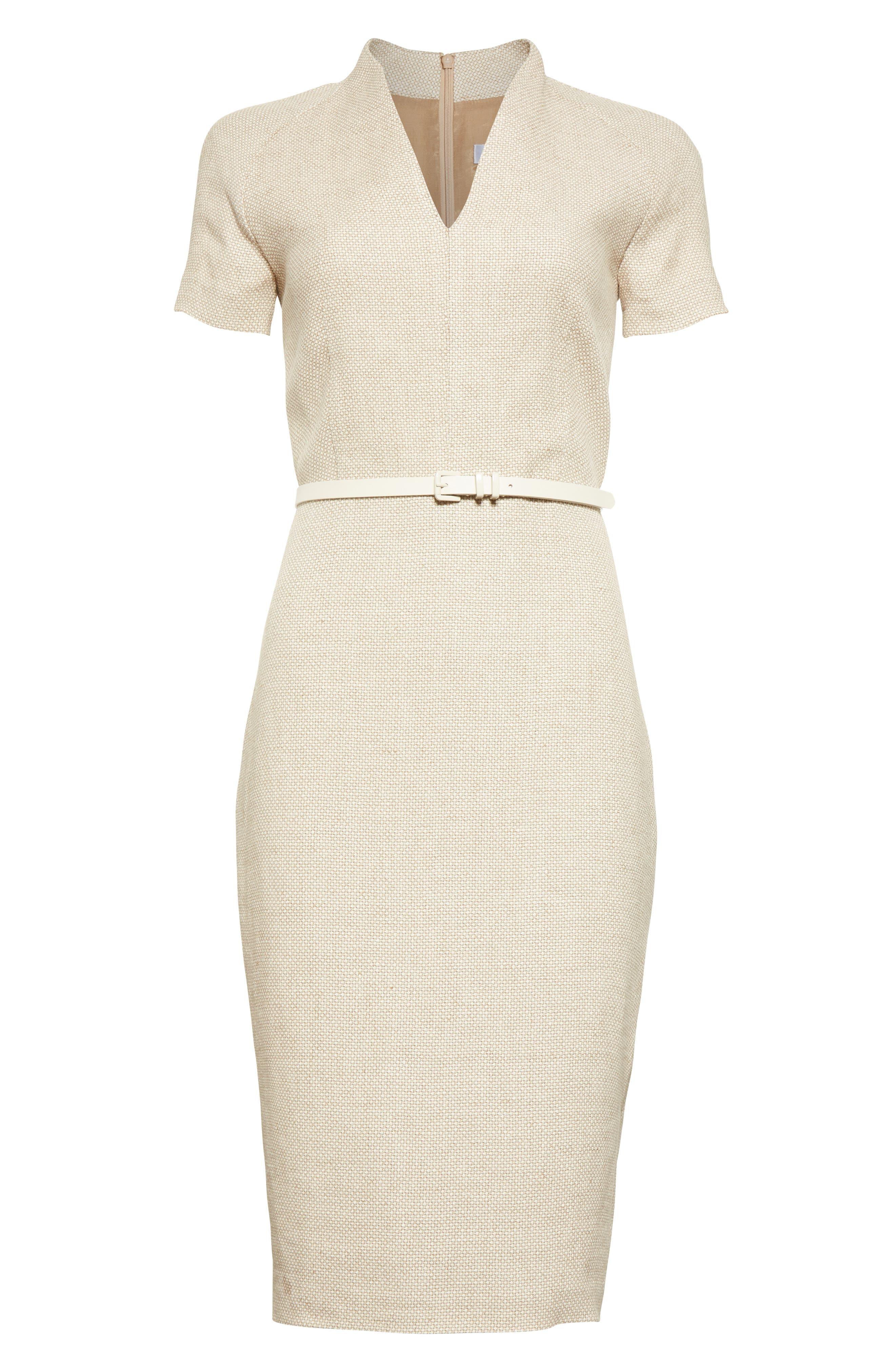 Alternate Image 4  - Max Mara Azeglio Belted Linen Sheath Dress