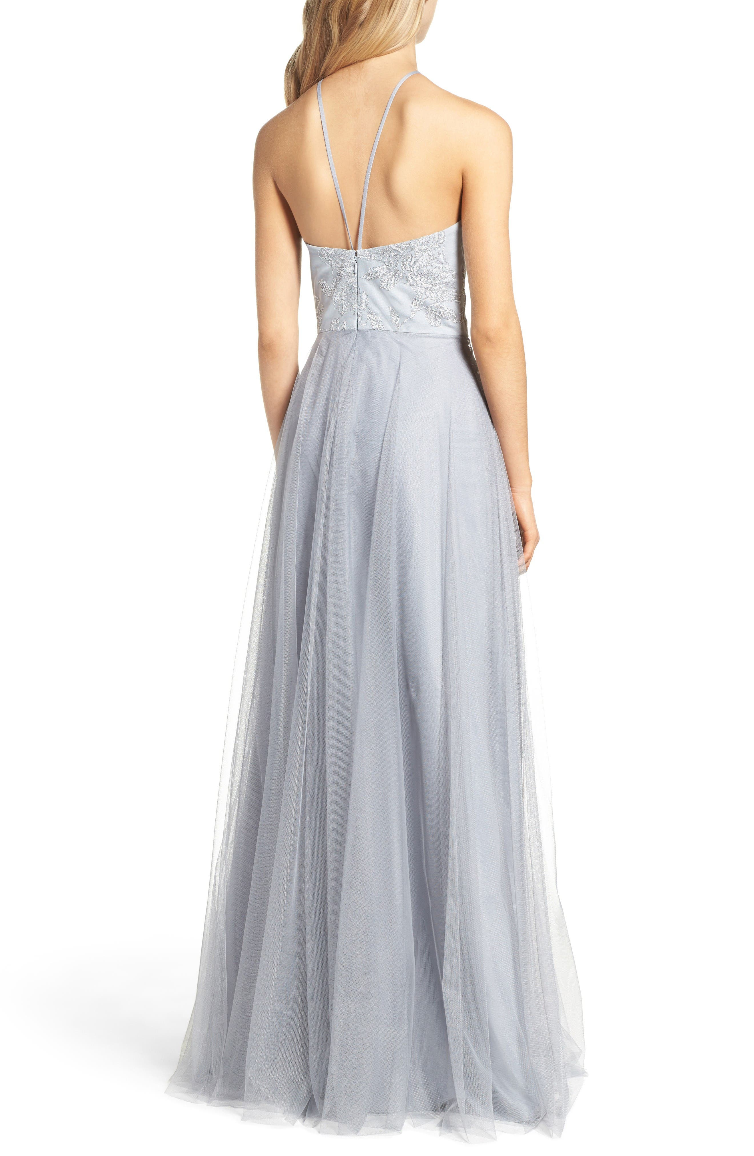Alternate Image 2  - Hayley Paige Occasions Metallic Embellished Gown