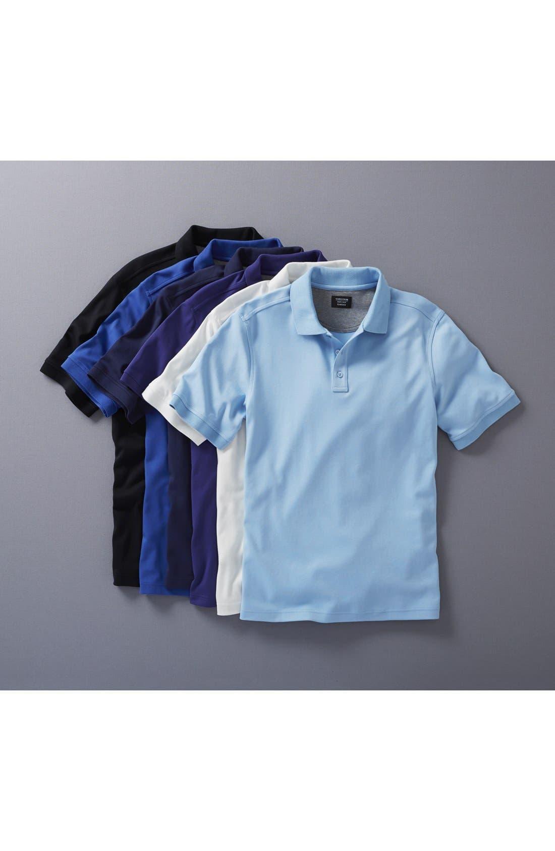 Alternate Image 4  - Nordstrom Men's Shop Regular Fit Interlock Knit Polo