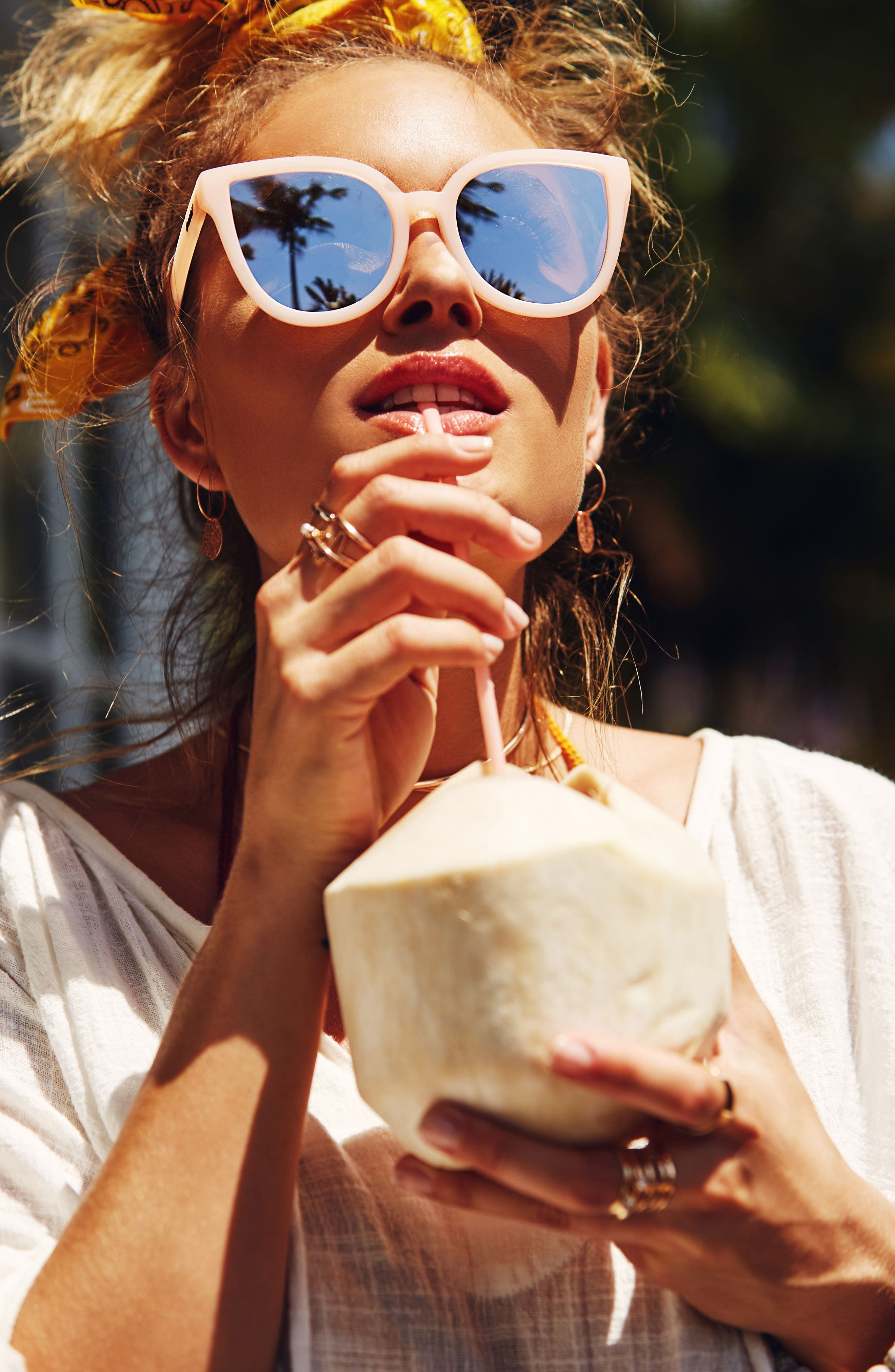Alternate Image 2  - Quay Australia Paradiso 52mm Cat Eye Sunglasses