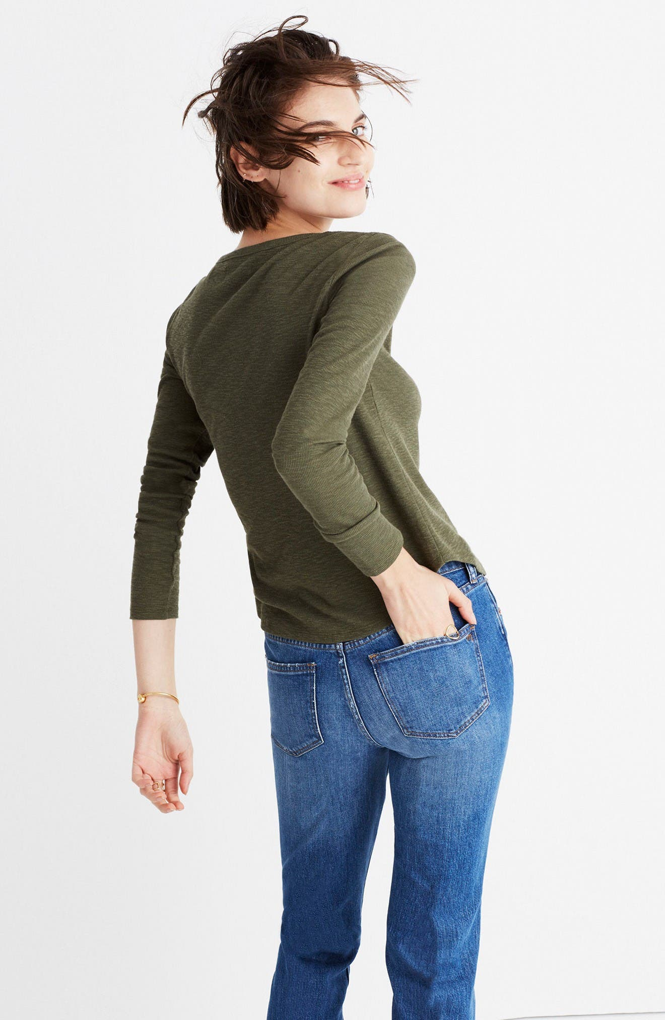 Alternate Image 2  - Madewell Sound Ribbed Henley Tee