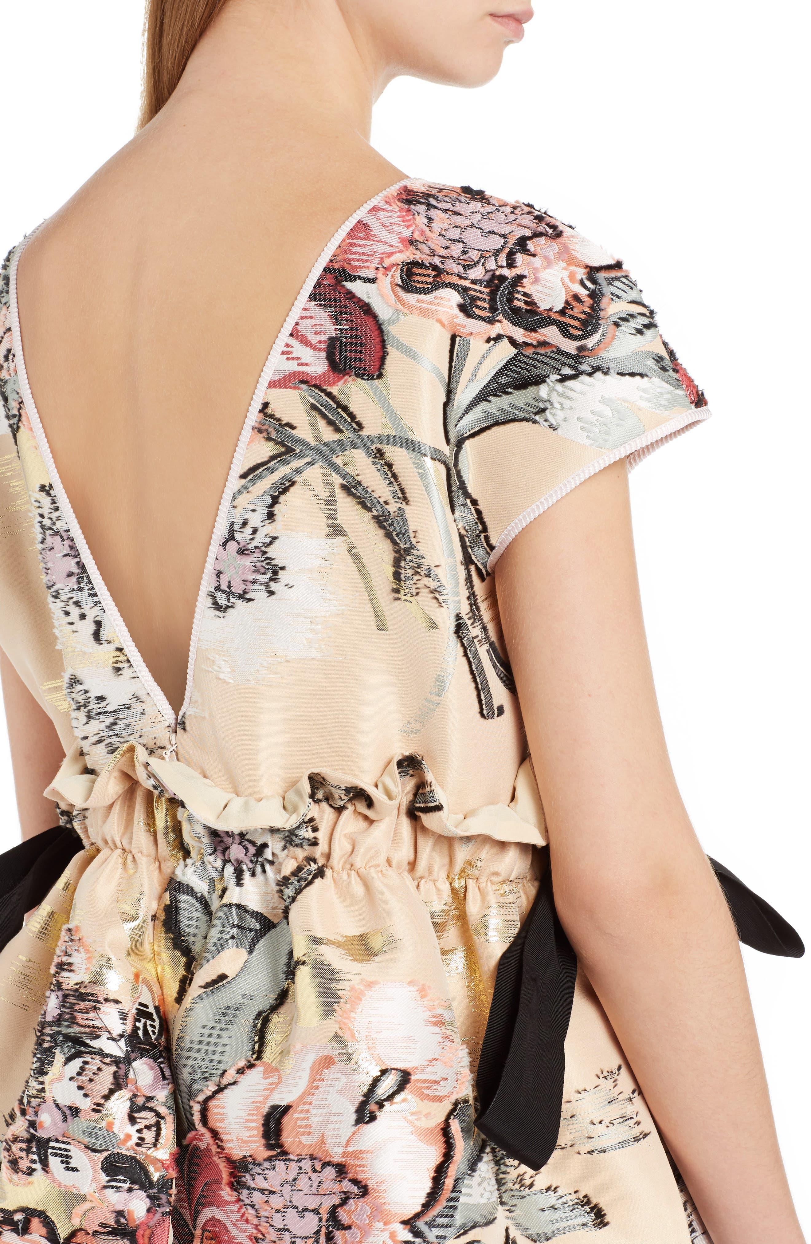 Alternate Image 5  - Fendi Fil Coupé Floral Brocade Dress