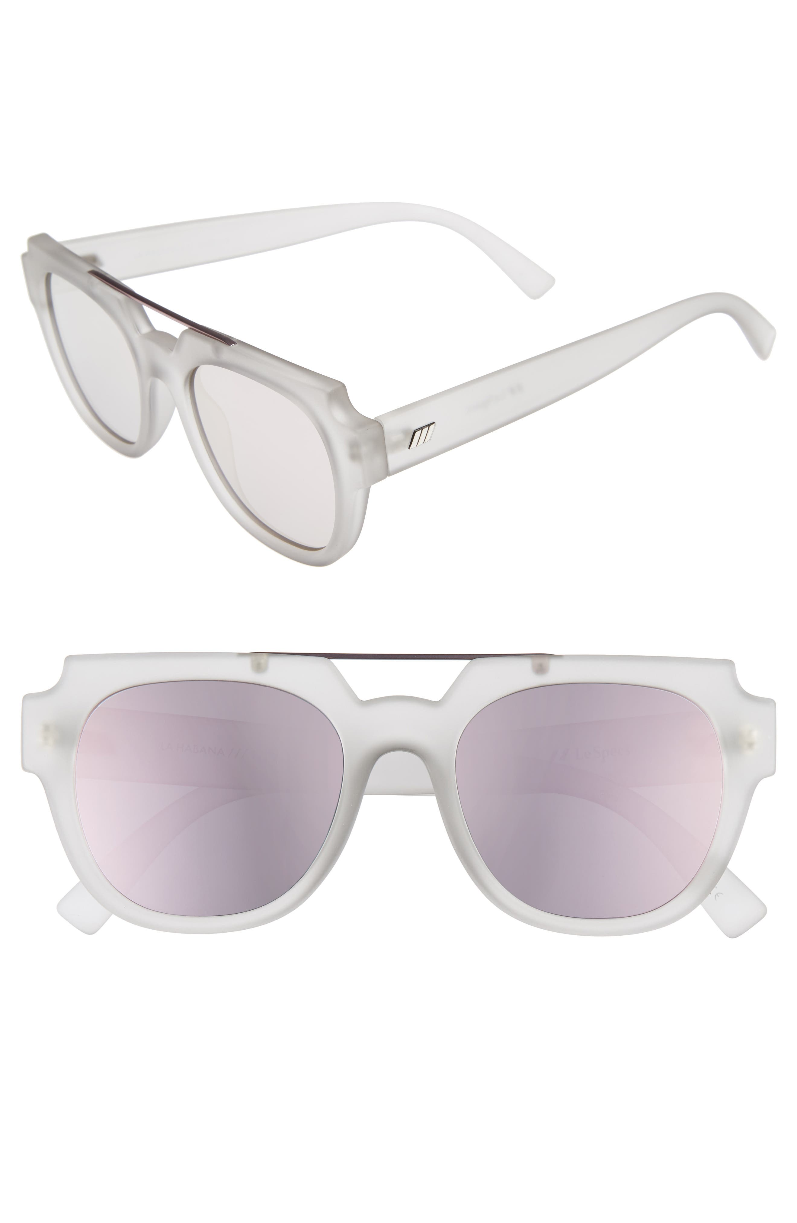 LE SPECS La Habana 52mm Retro Sunglasses