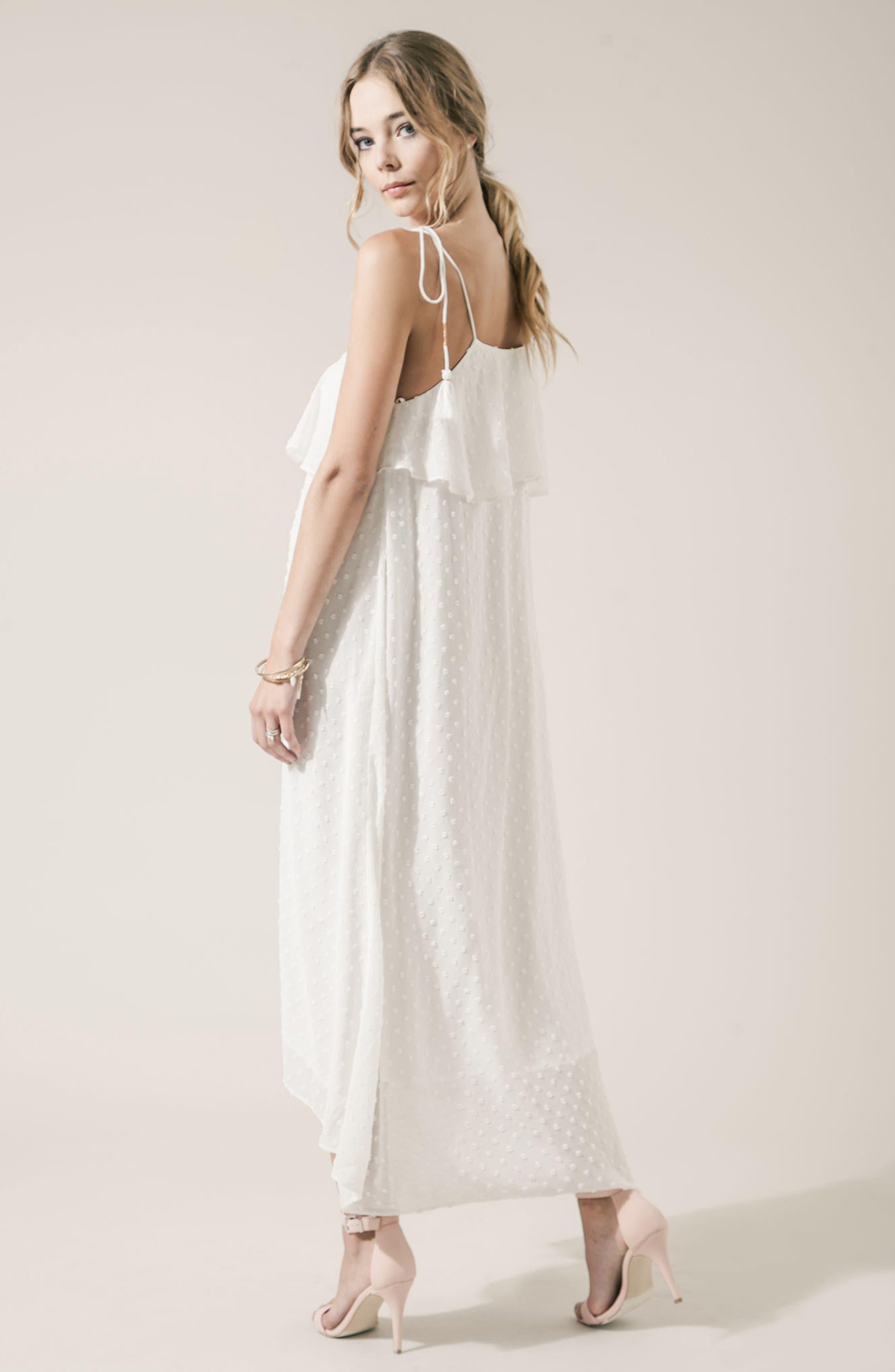 Alternate Image 7  - MOON RIVER Swiss Dot Maxi Dress