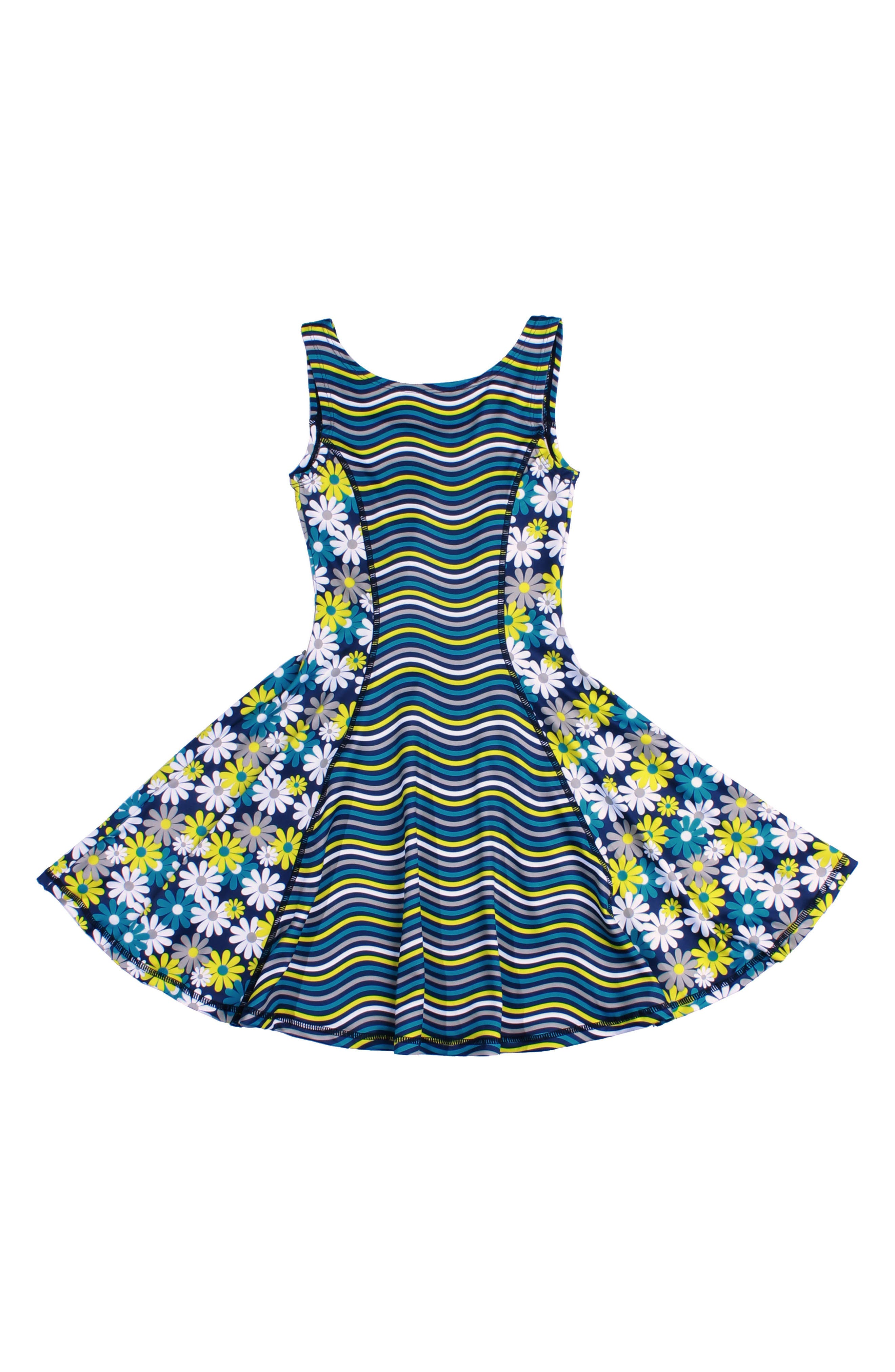 CHOOZE Flow Mixed Print Dress (Little Girls & Big Girls)