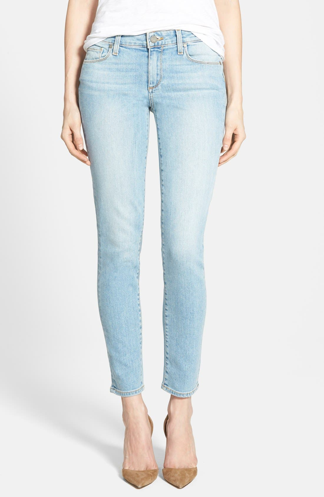 Main Image - Paige Denim 'Skyline' Ankle Peg Jeans (Loren Blue)
