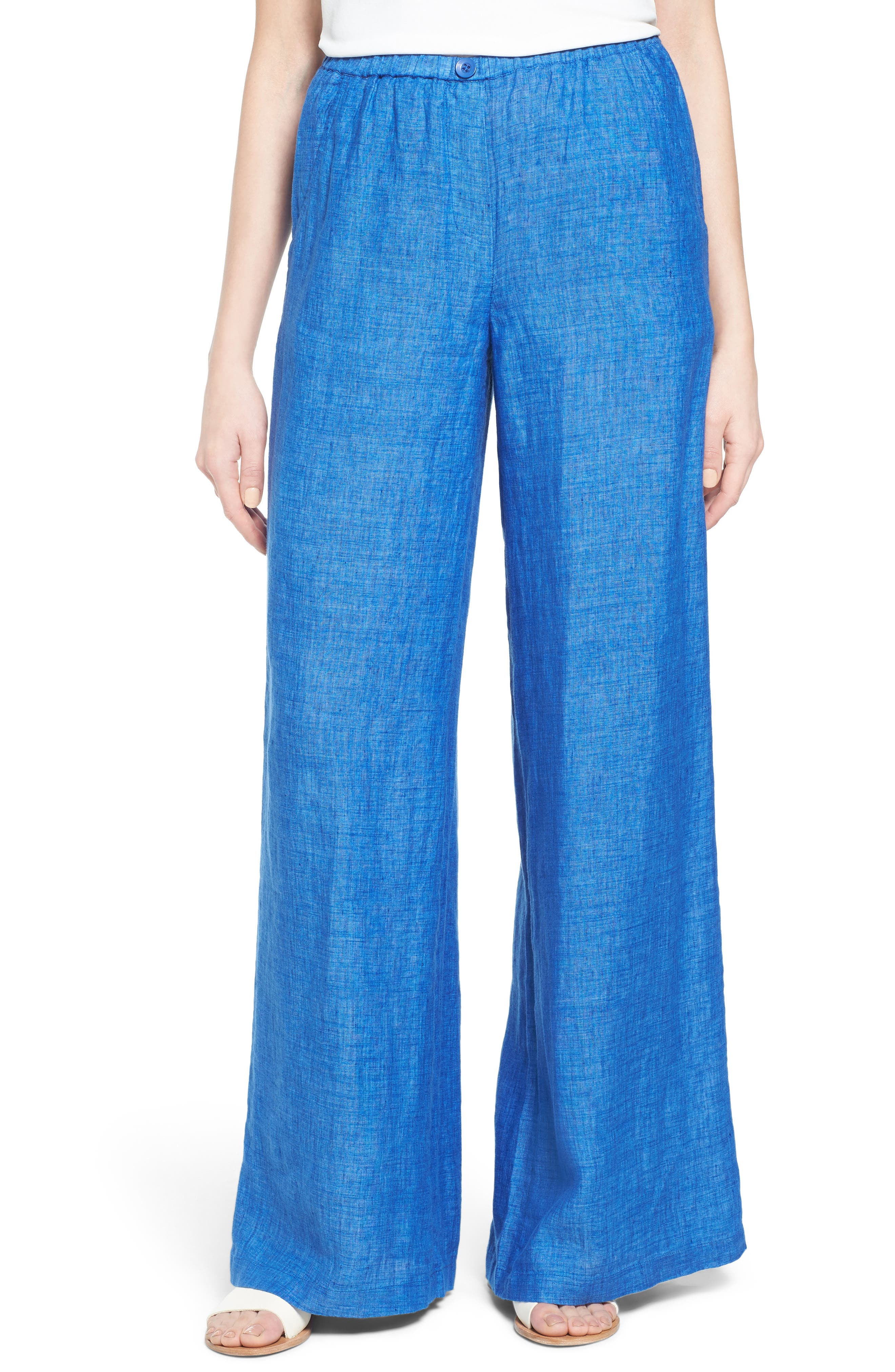 NIC+ZOE Drifty Wide Leg Linen Trousers