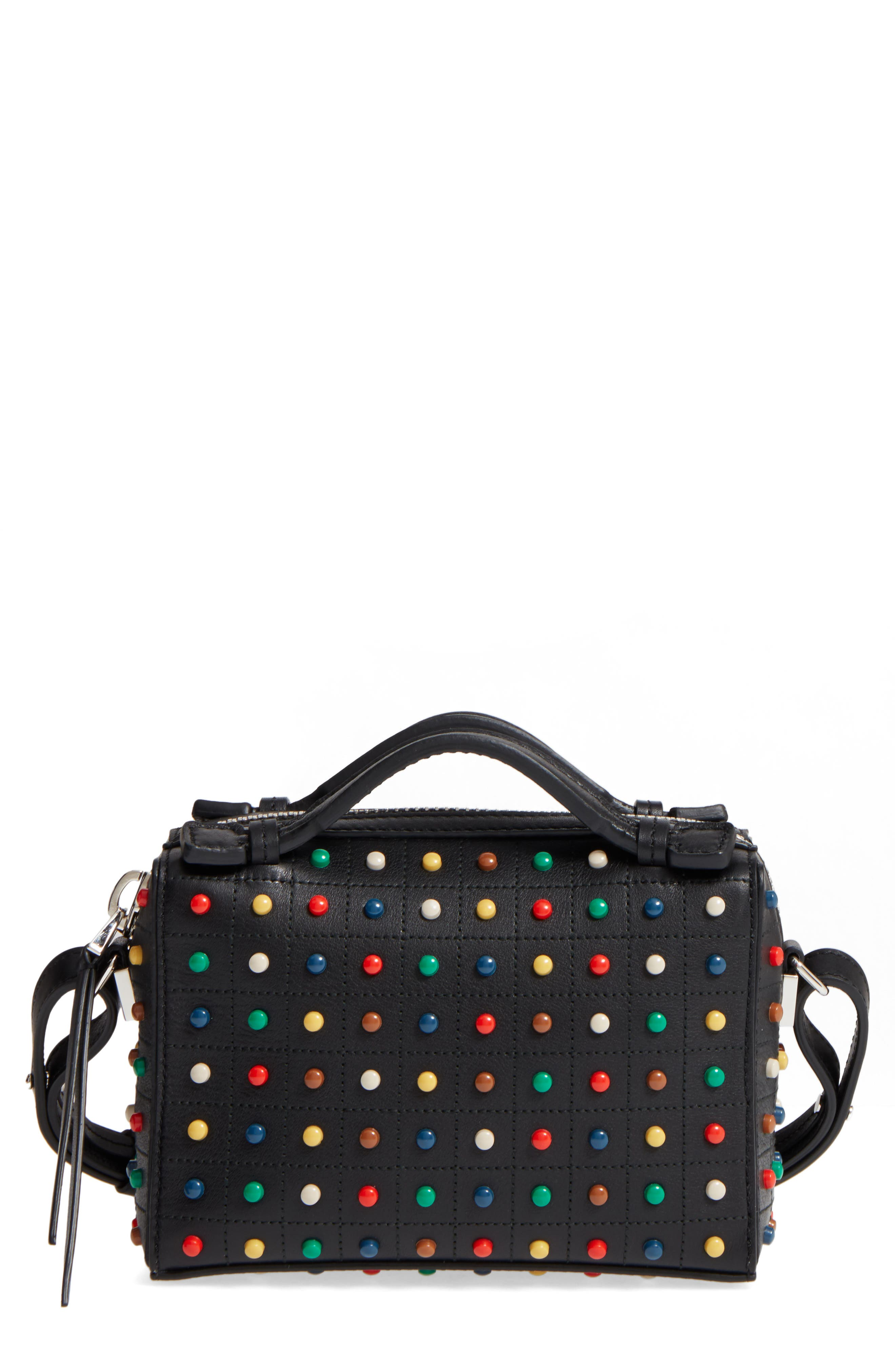 Alternate Image 1 Selected - Tod's Micro Diodon Rainbow Studded Leather Bowler Bag