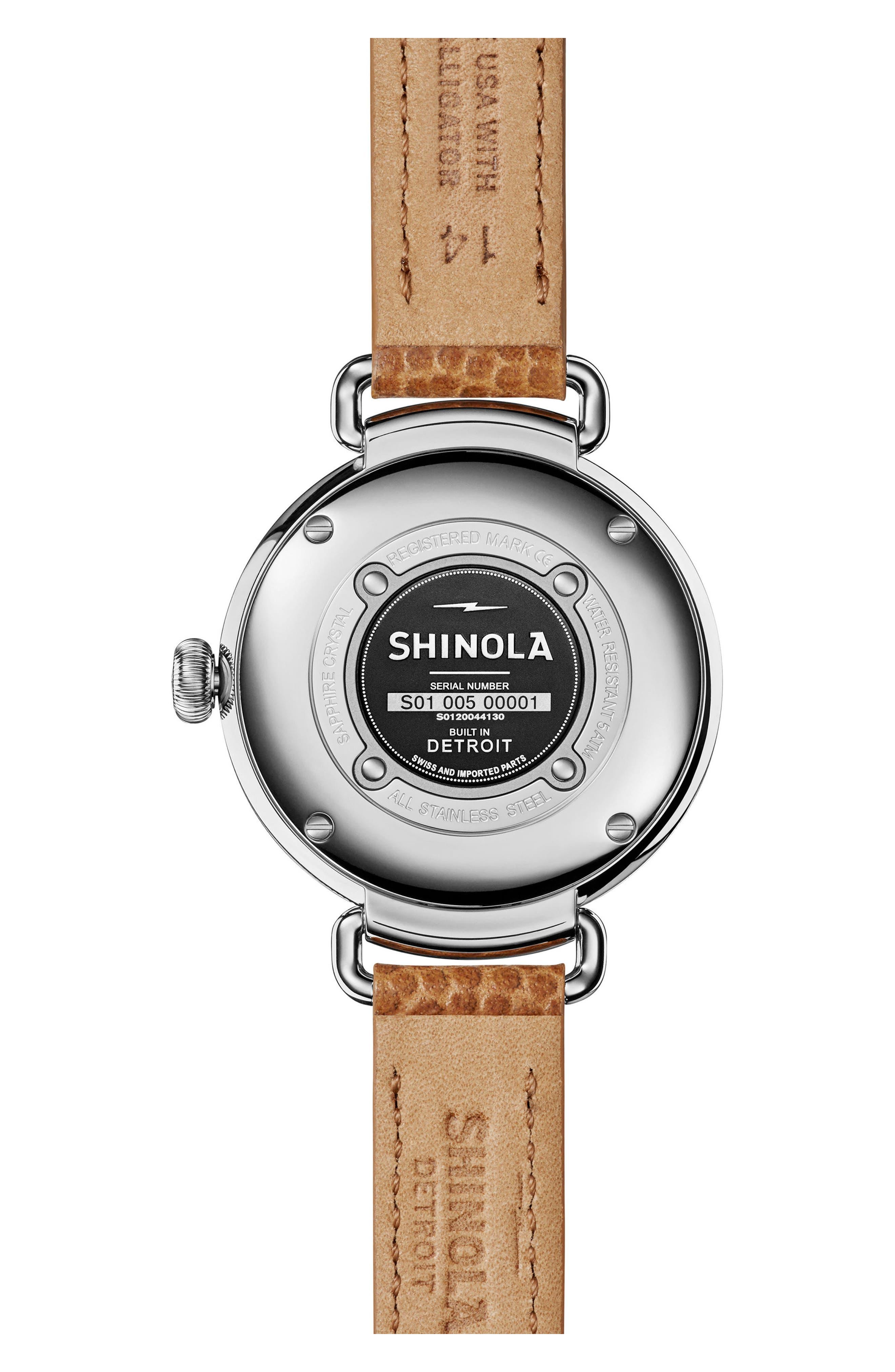 Alternate Image 2  - Shinola The Canfield Alligator Strap Watch, 38mm