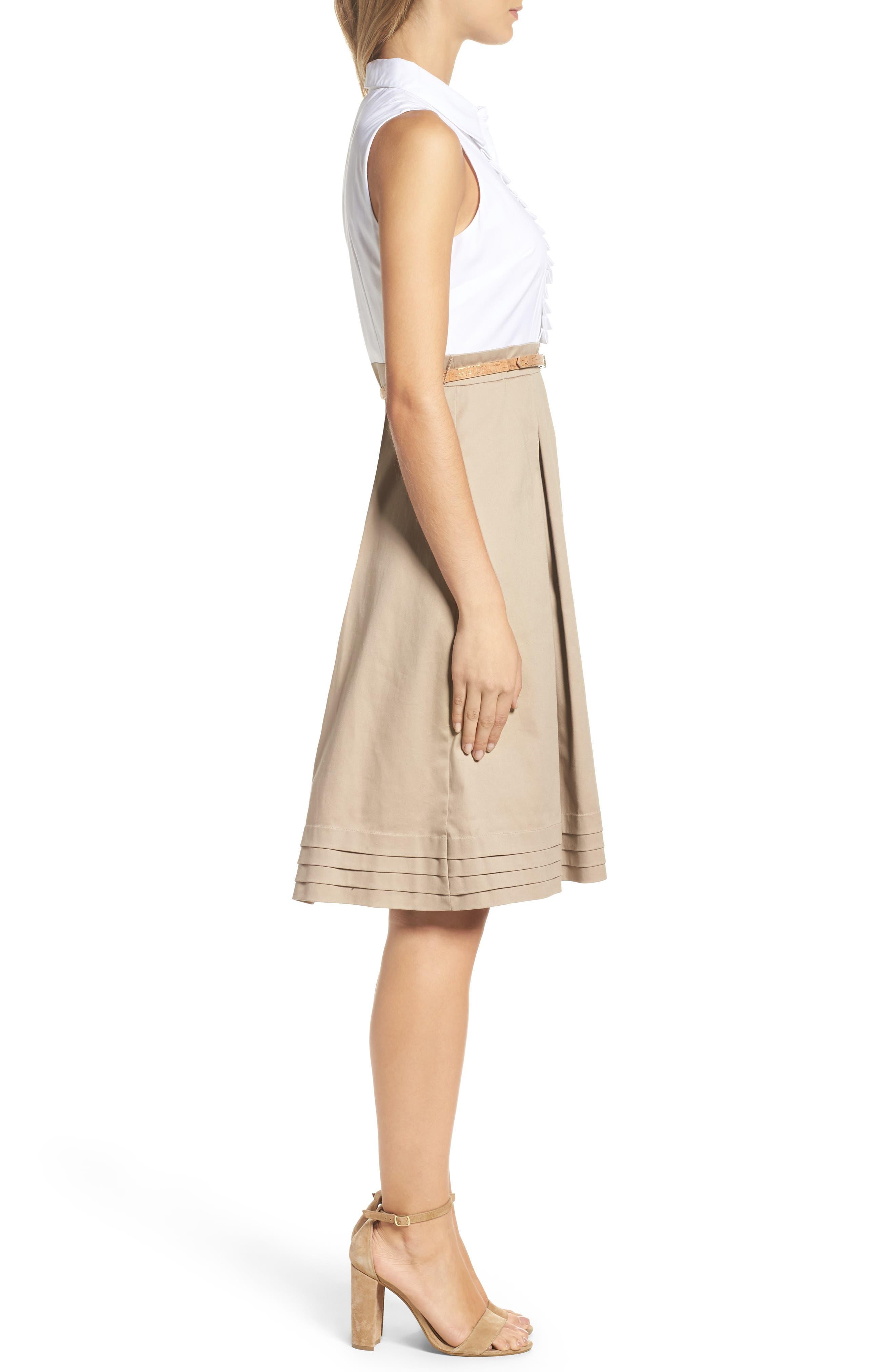 Alternate Image 3  - Eliza J Ruffle Shirtdress (Regular & Petite)