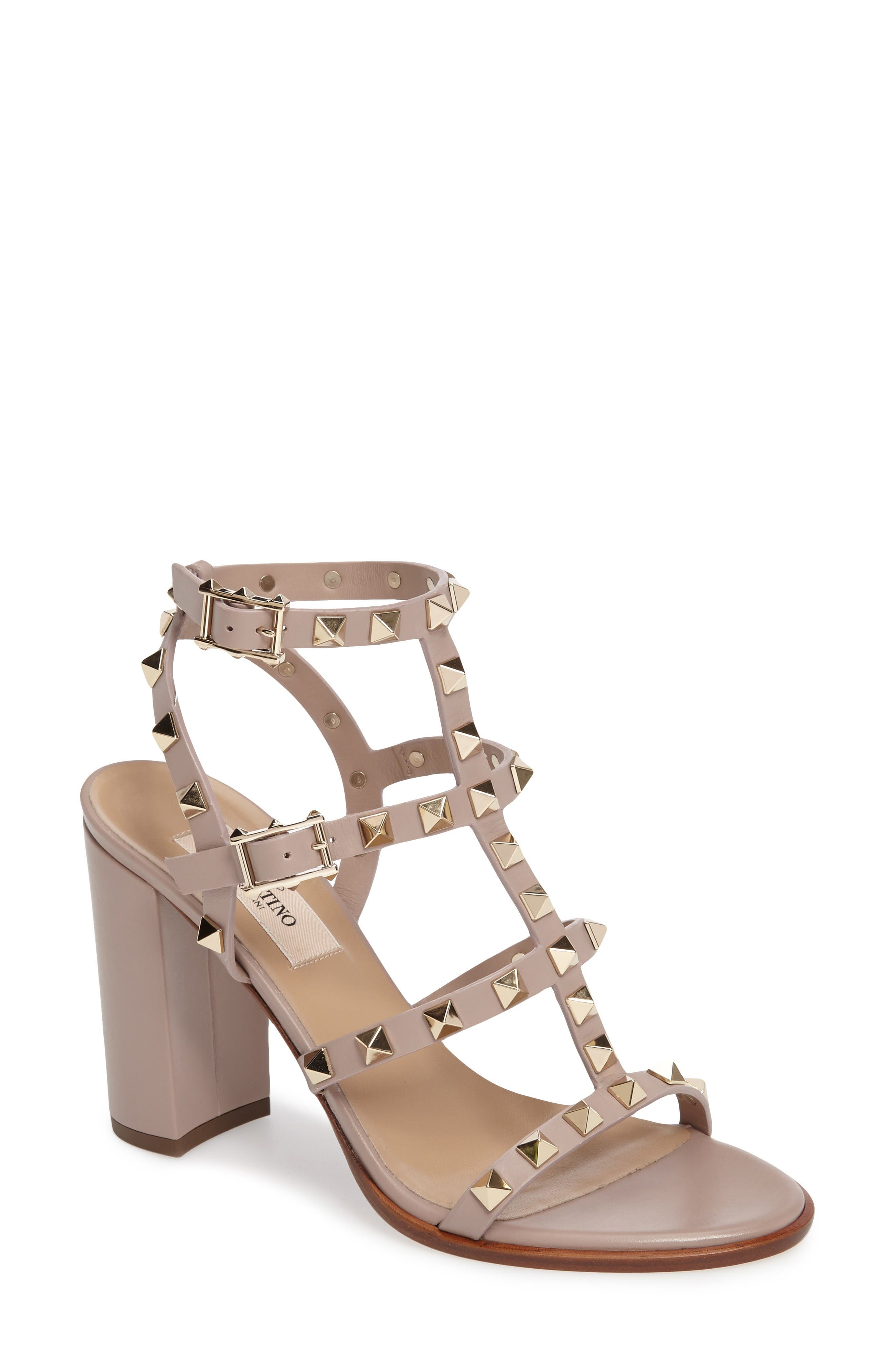 Main Image - VALENTINO GARAVANI 'Rockstud' T-Strap Sandal (Women)