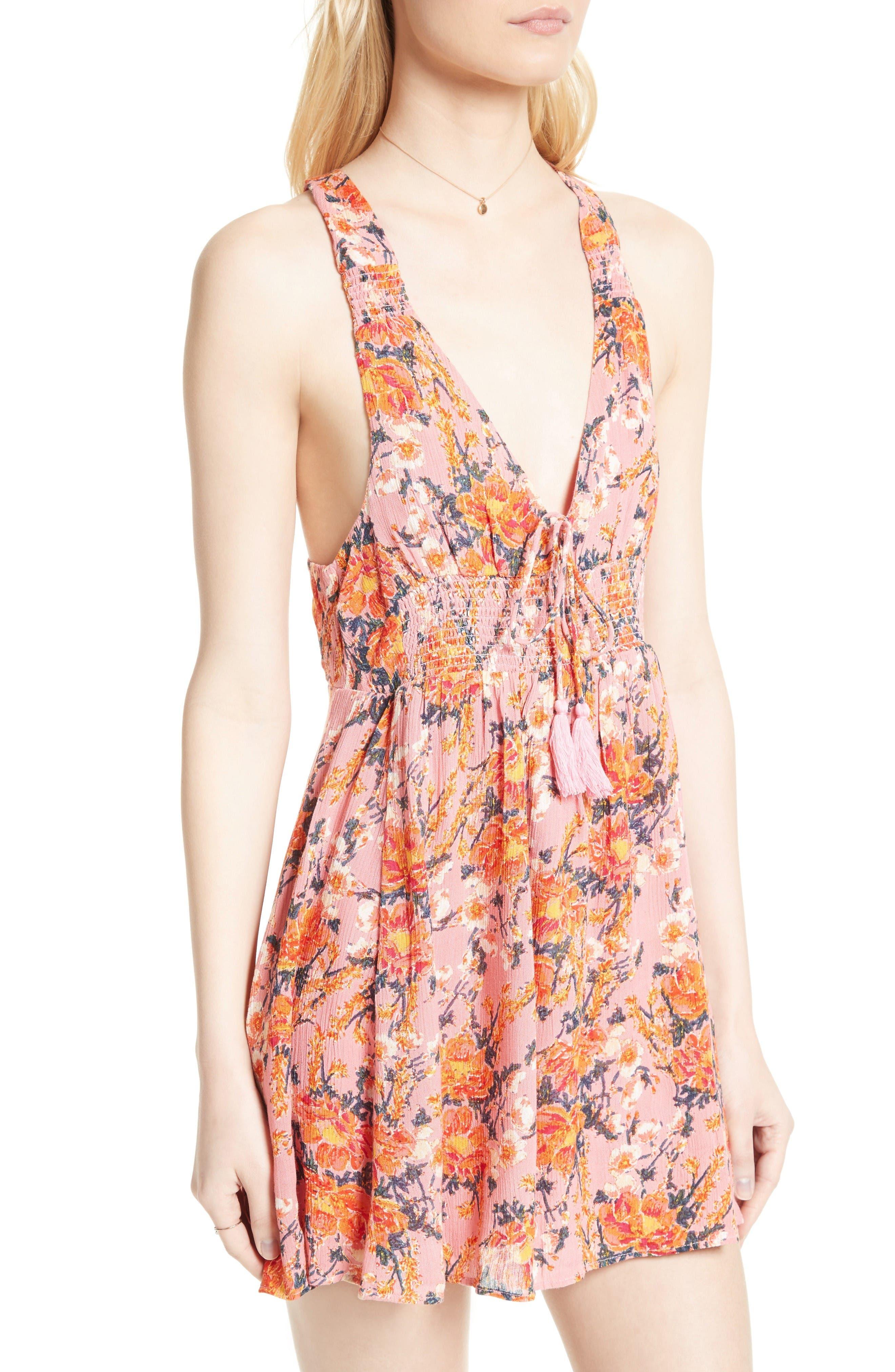 Alternate Image 4  - Free People Floral Print Minidress