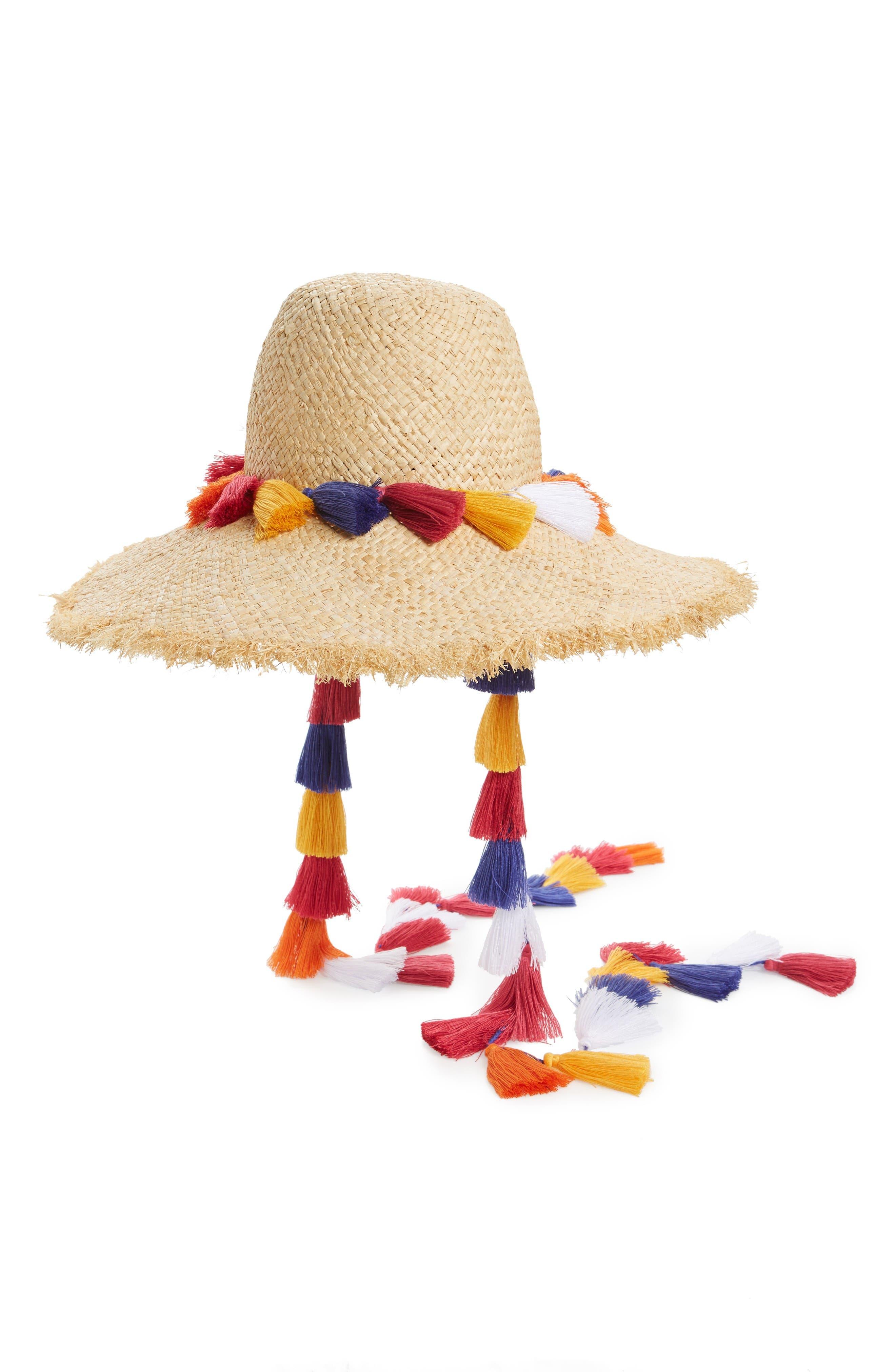 Alternate Image 1 Selected - kate spade new york tassel backpack sun hat