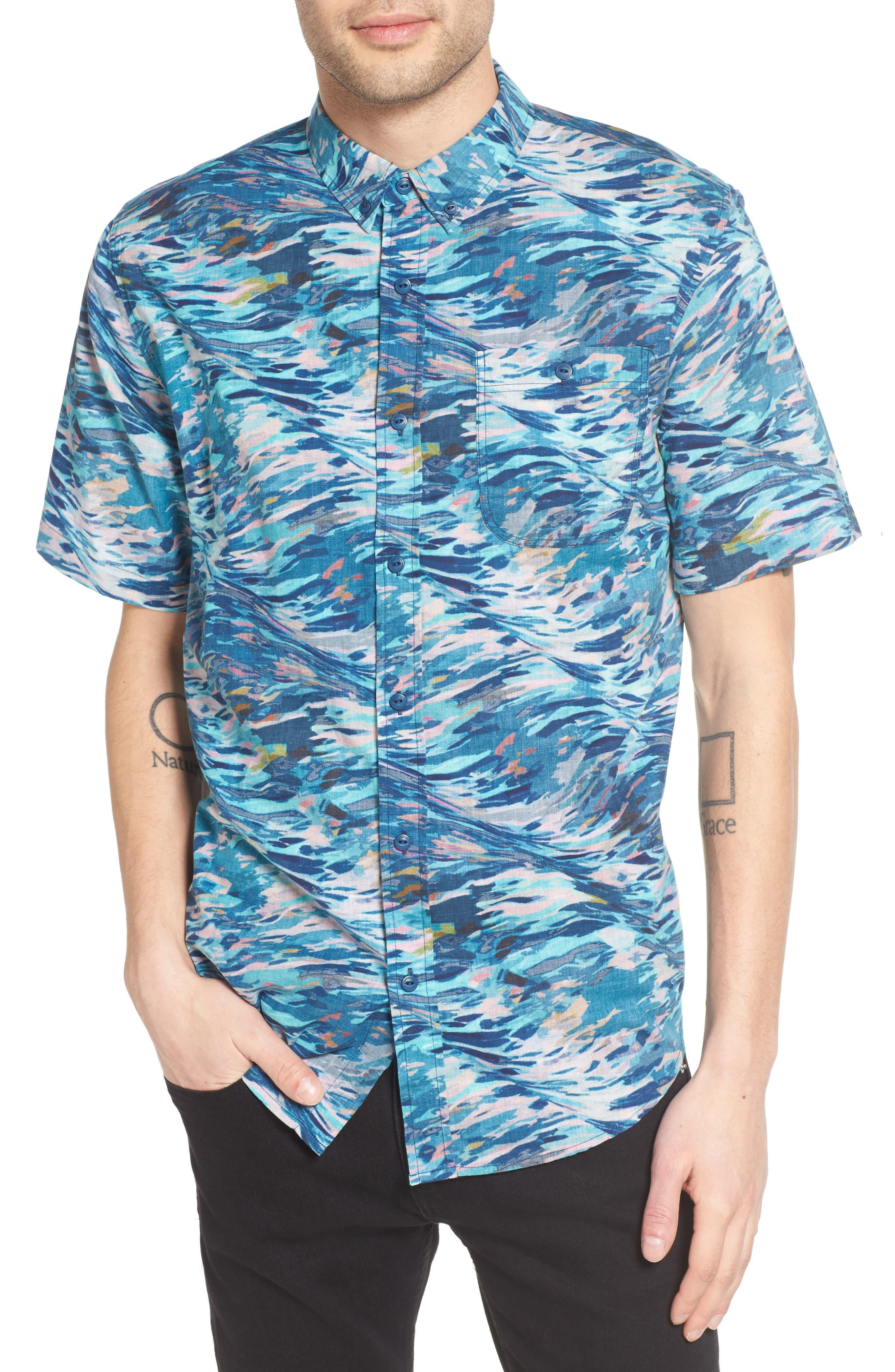 EZEKIEL Paint Print Woven Shirt