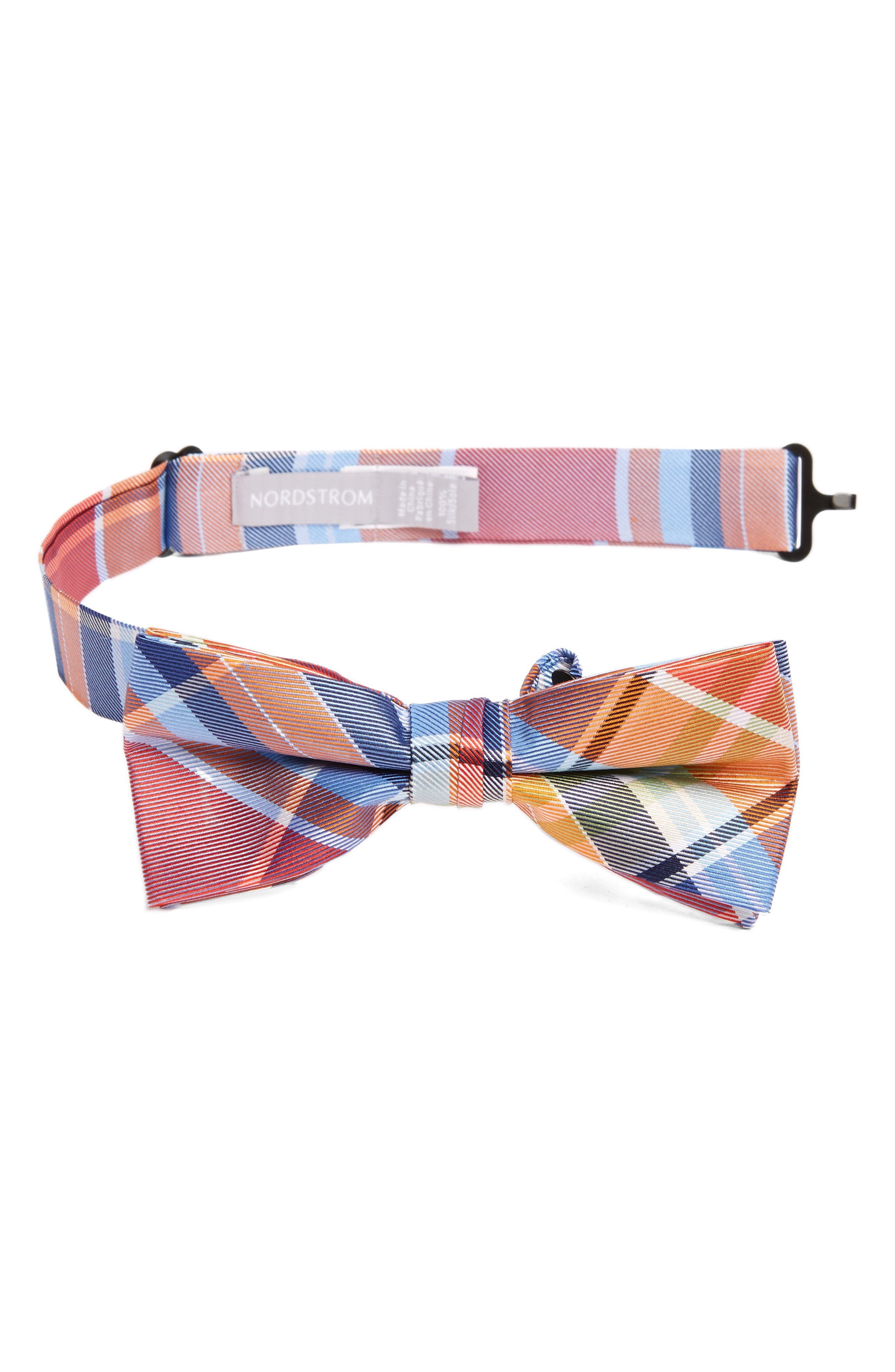 Nordstrom Plaid Silk Bow Tie (Big Boys)