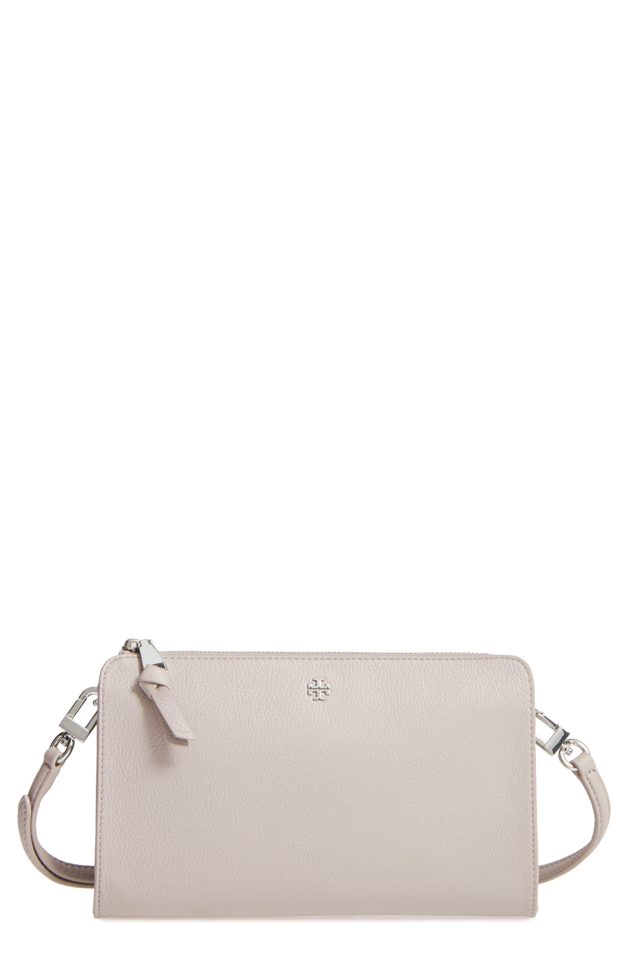 Tory Burch Robinson Leather Wallet/Crossbody Bag