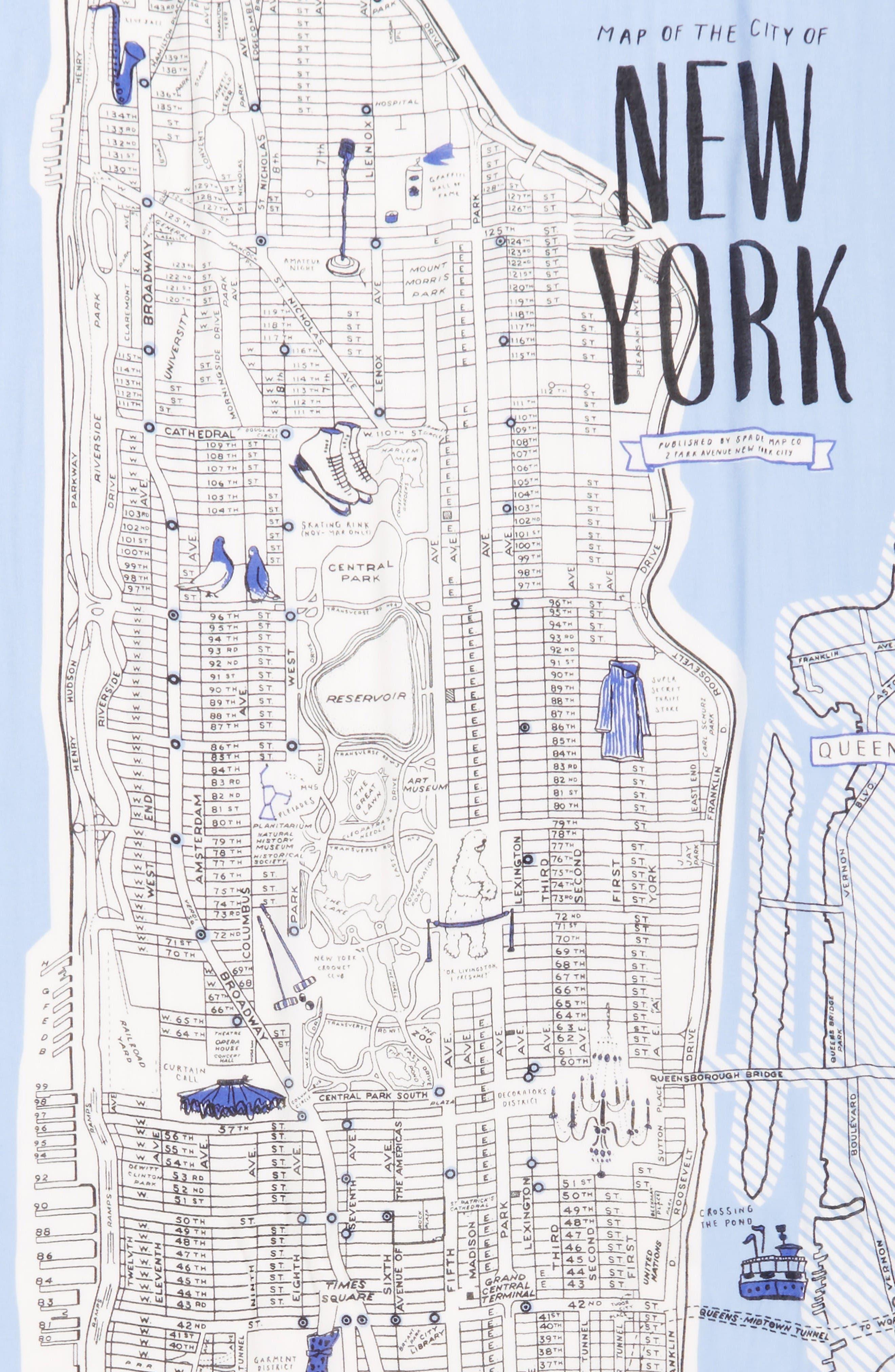 Alternate Image 3  - kate spade new york new york map print scarf