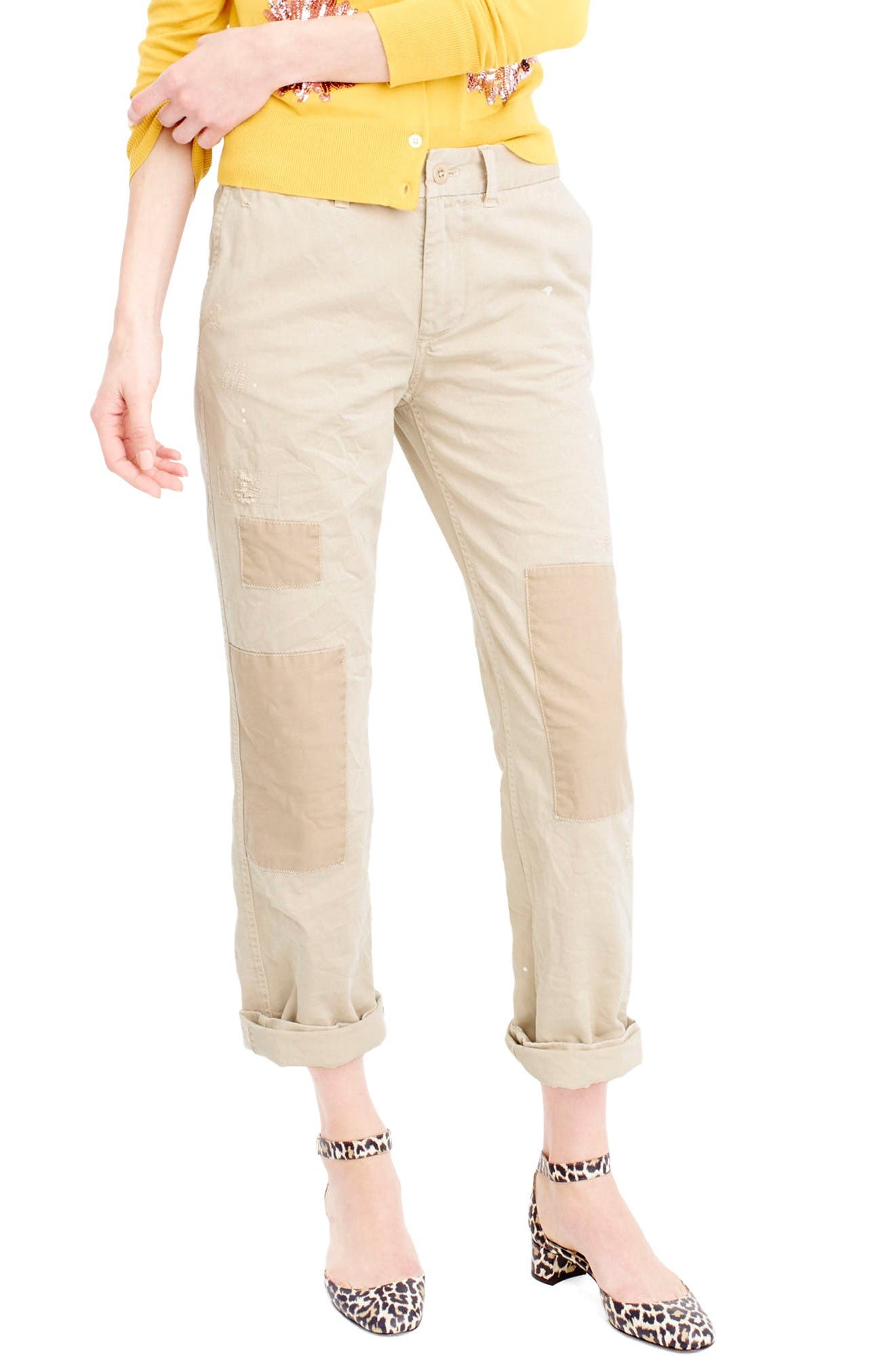 J.CREW Distressed Boyfriend Chino Pants