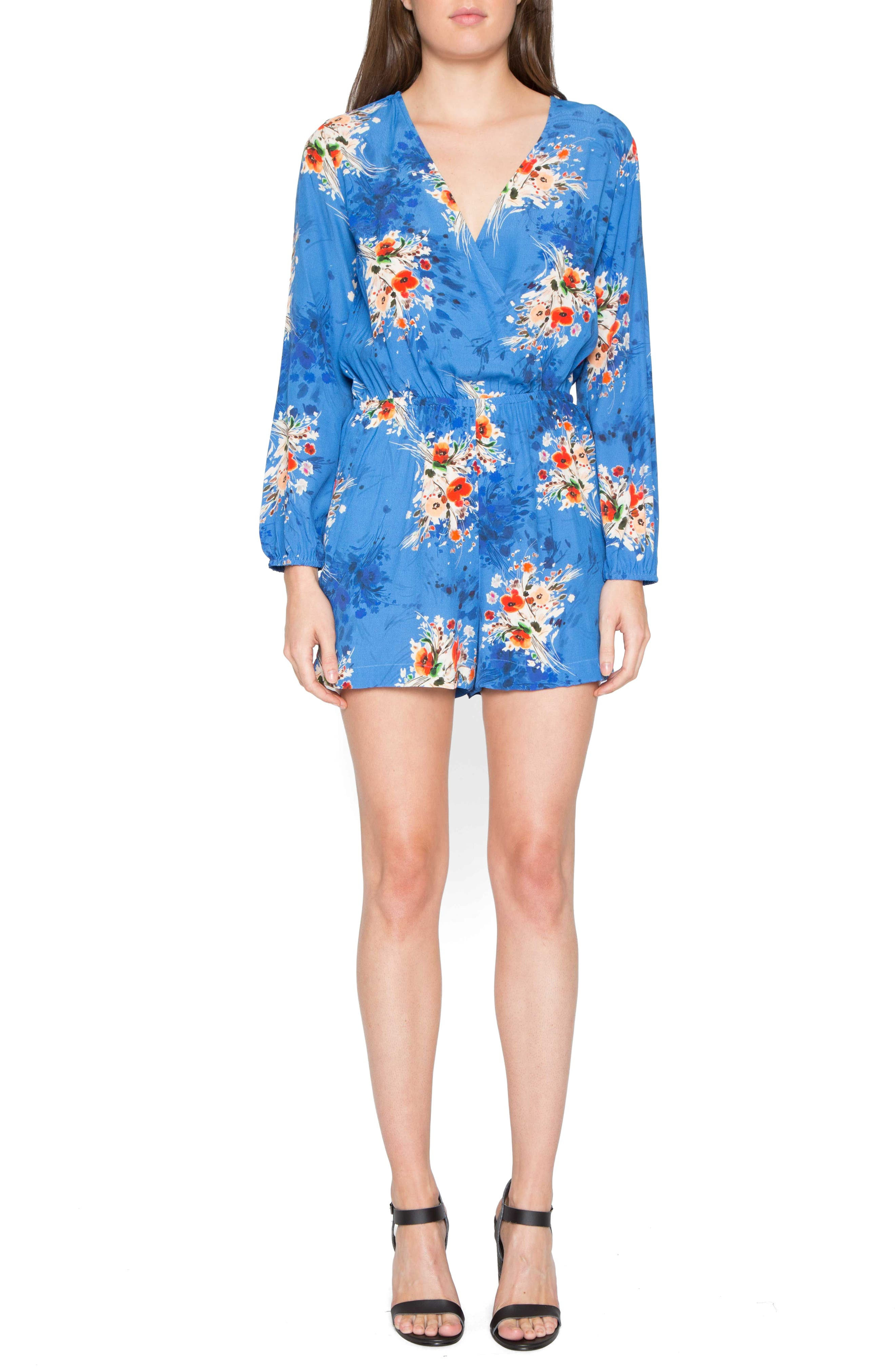 Main Image - Willow & Clay Floral Print Romper